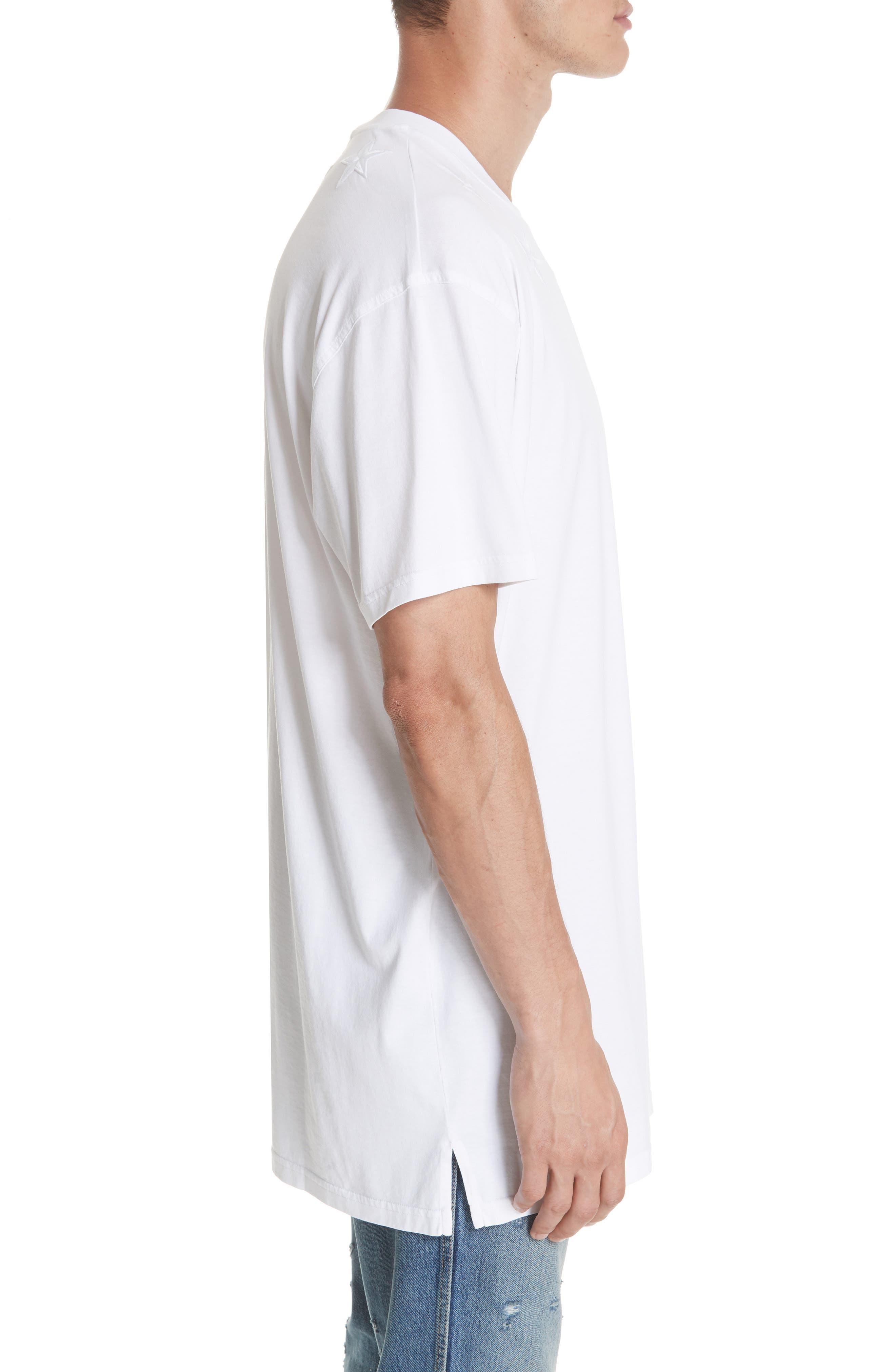 GIVENCHY,                             Star Appliqué T-Shirt,                             Alternate thumbnail 3, color,                             WHITE