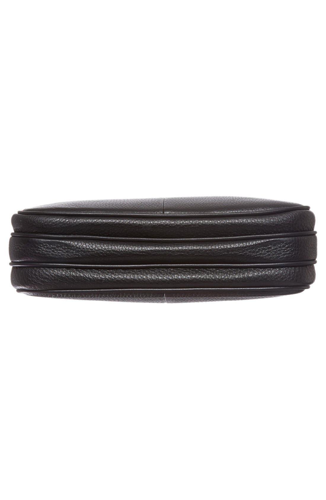 Ivy Leather Crossbody Bag,                             Alternate thumbnail 7, color,                             001