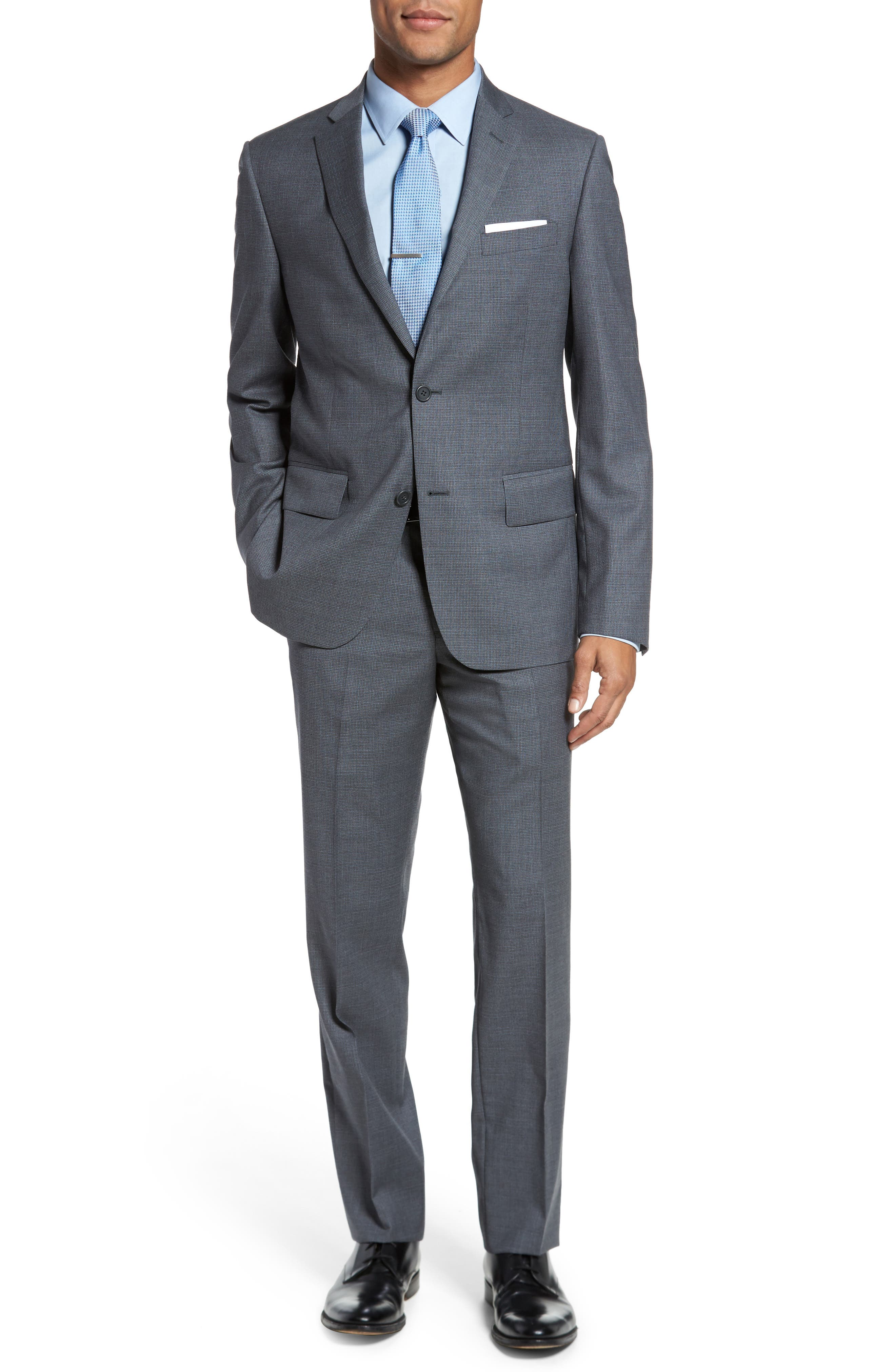 Classic Fit Check Wool Suit,                             Main thumbnail 2, color,