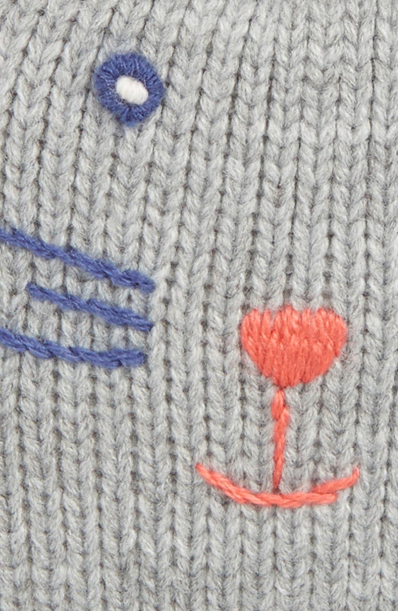 Mini Boden Cat Hat & Mitten Set,                             Alternate thumbnail 2, color,                             GREY MARL