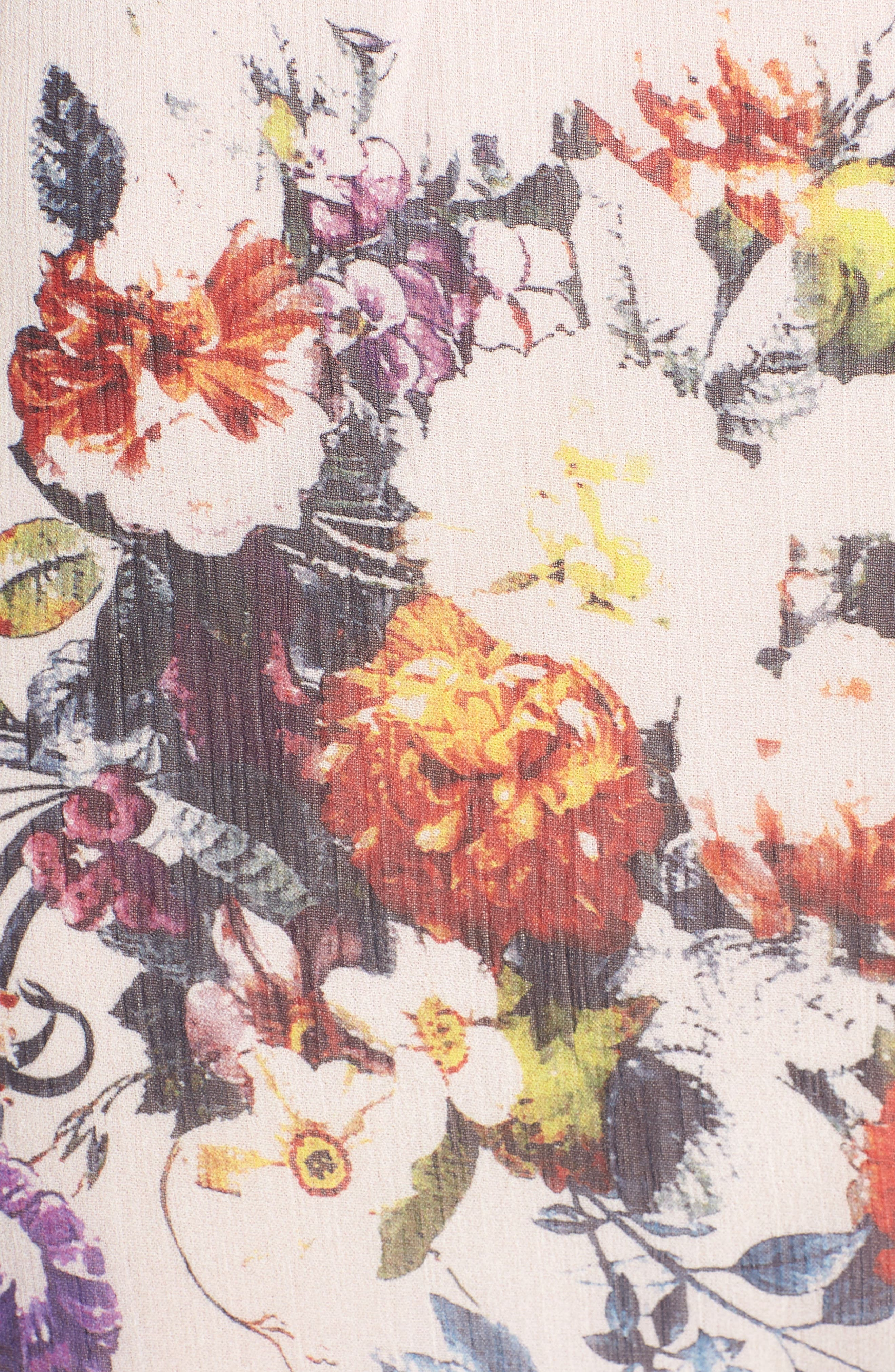 Ana Floral Shark Bite Hem Halter Dress,                             Alternate thumbnail 6, color,                             900
