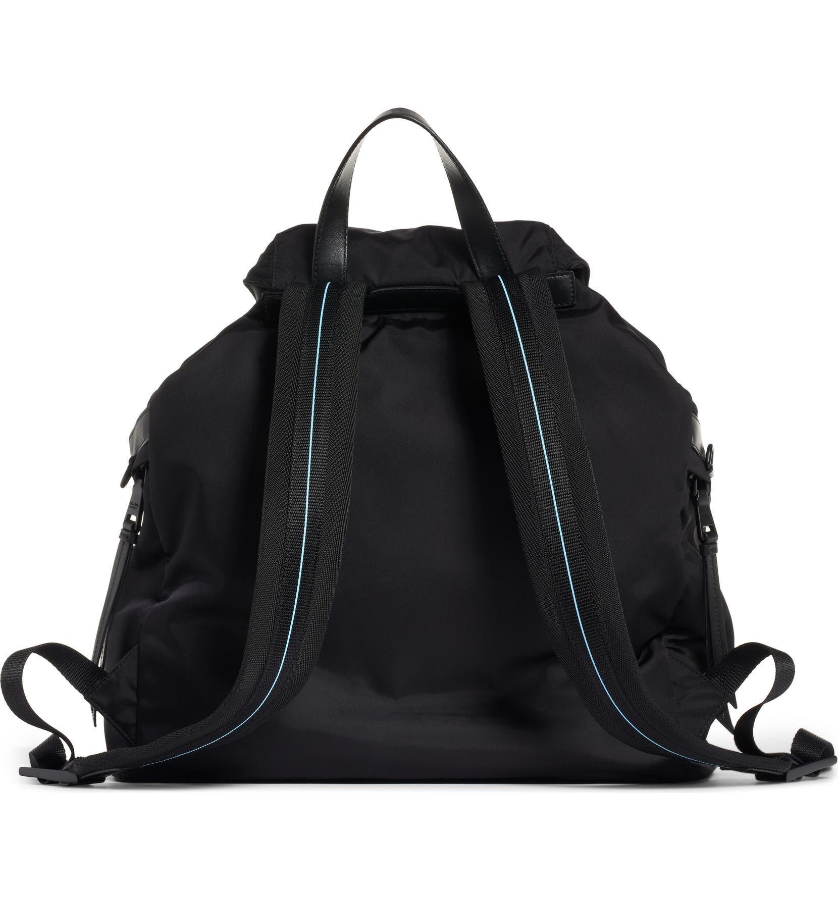 22b6b09de5 Prada Tessuto   Calfskin Leather Backpack