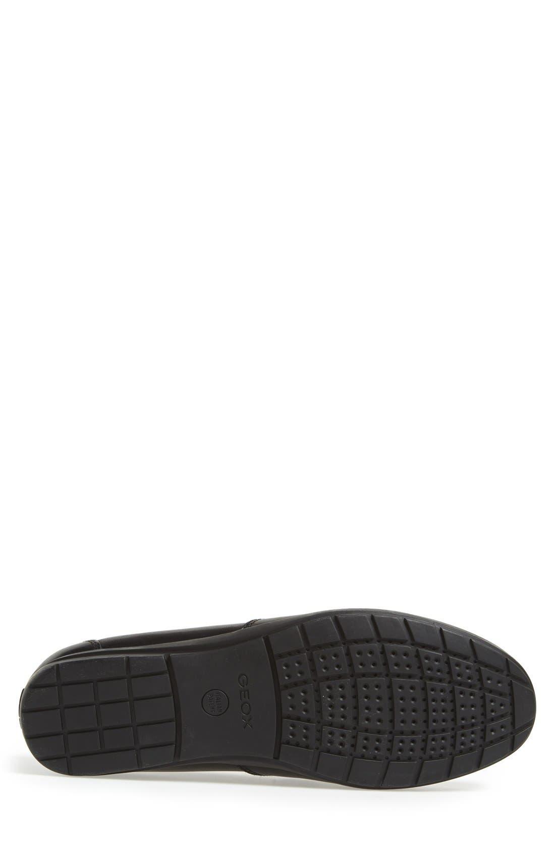 'Simon W2' Venetian Loafer,                             Alternate thumbnail 4, color,                             BLACK