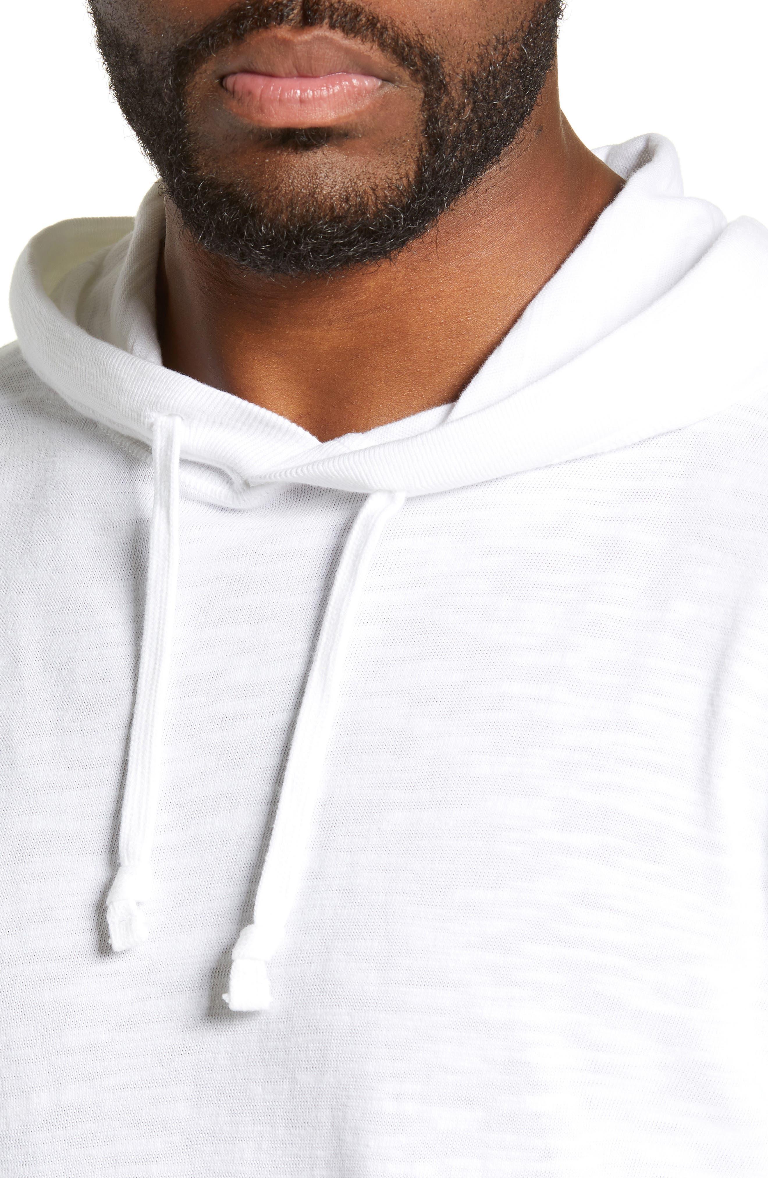 Slubbed Cotton Hooded Pullover,                             Alternate thumbnail 2, color,                             WHITE
