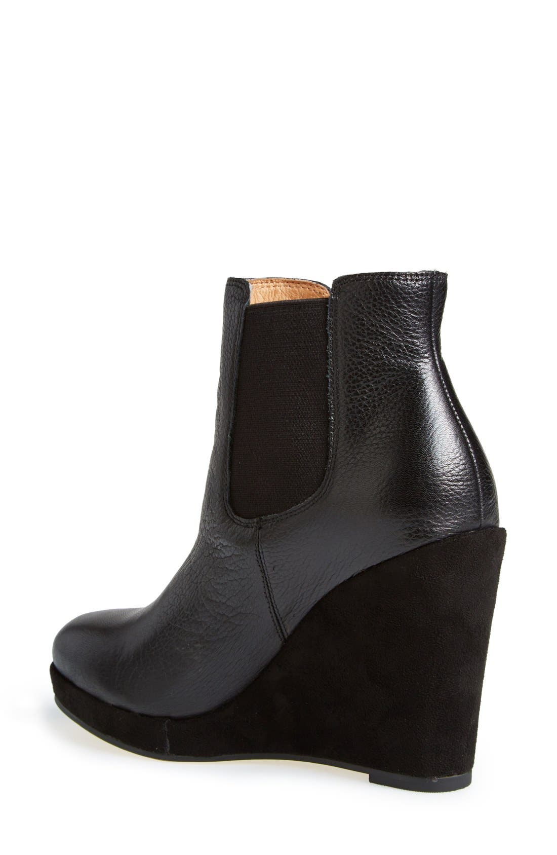 CORSO COMO,                             Corso Como 'Coast' Wedge Bootie,                             Alternate thumbnail 4, color,                             001