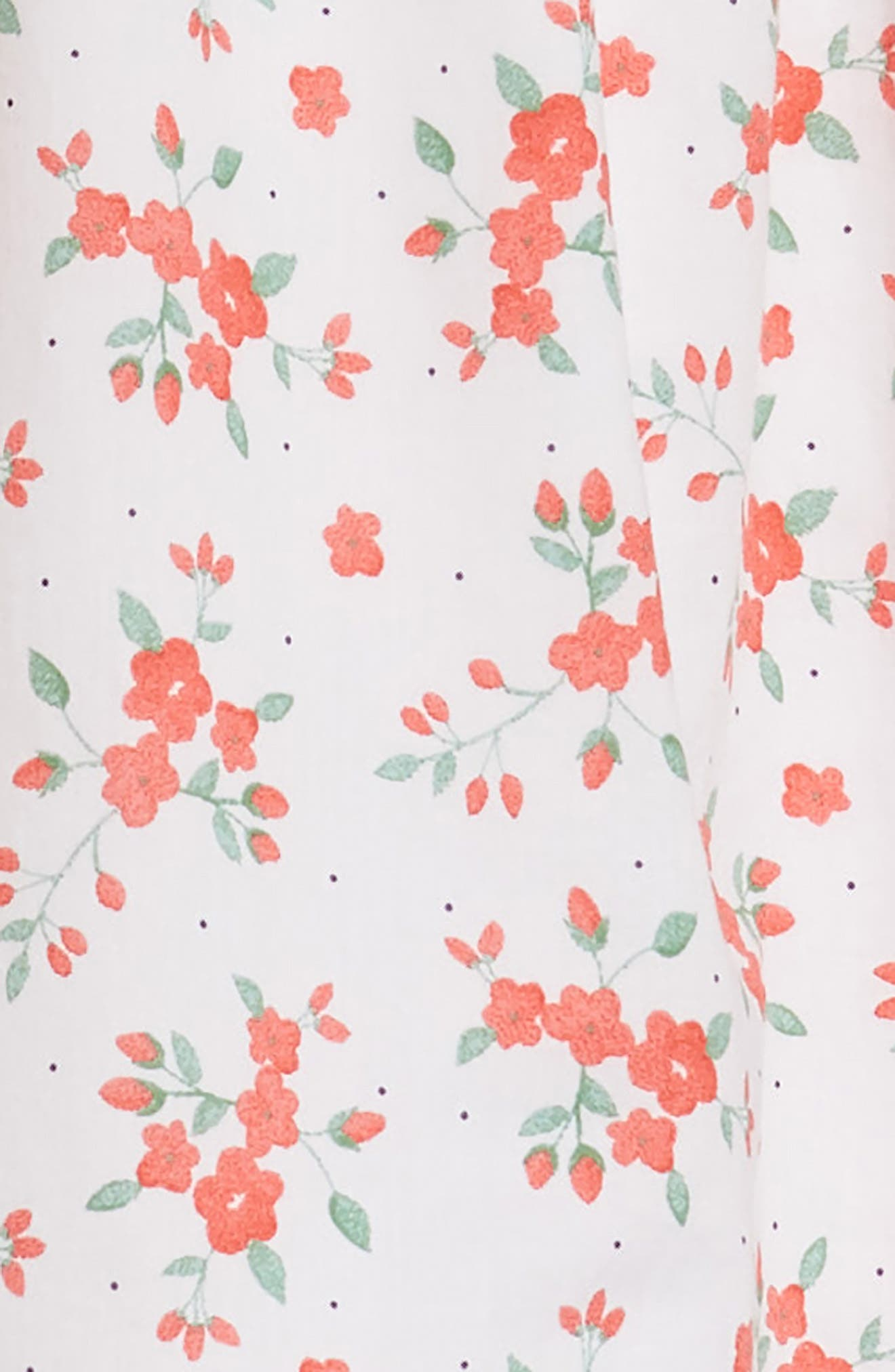 Floral Halter Dress,                             Alternate thumbnail 3, color,                             100
