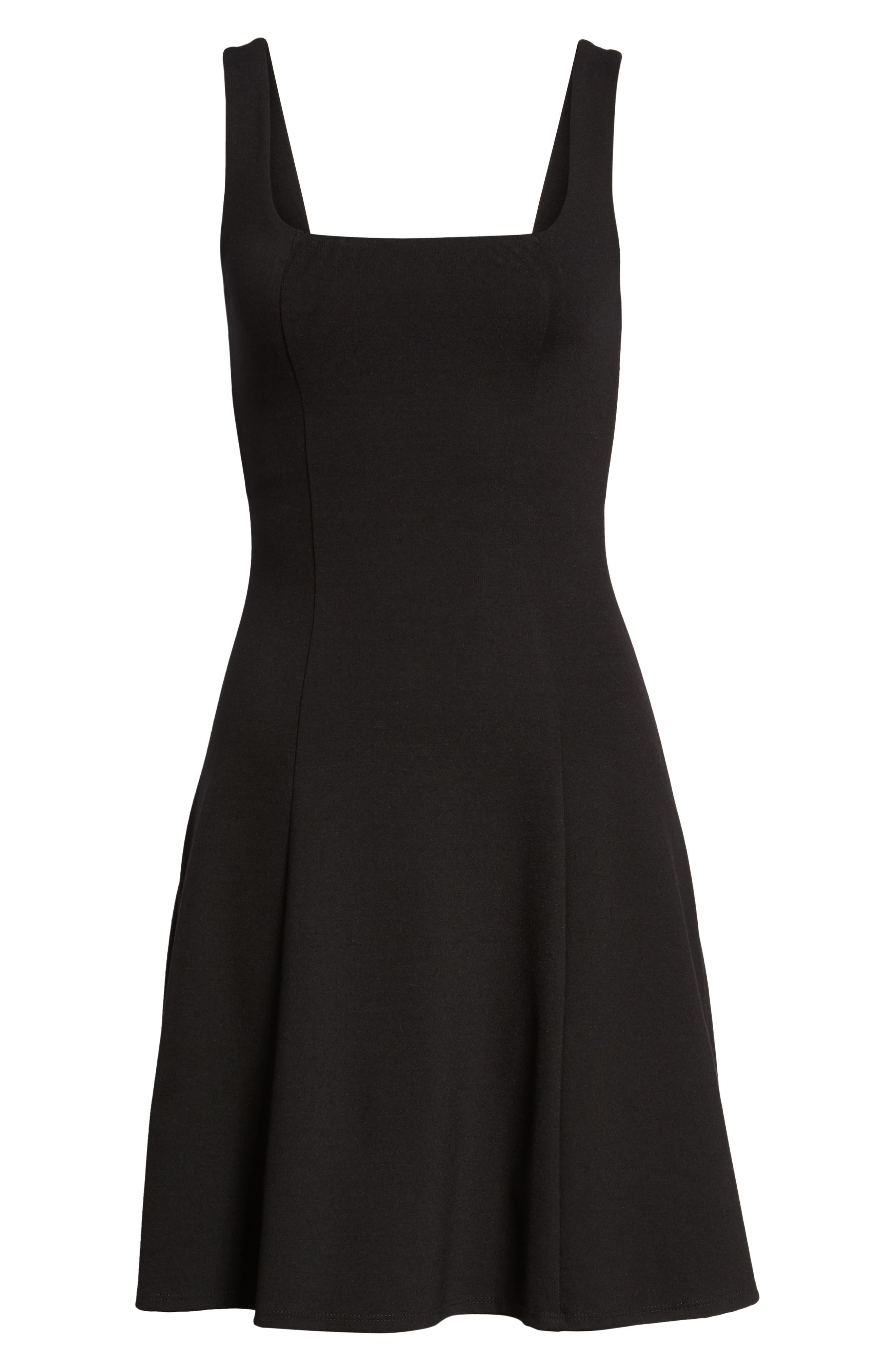 Rachel Skater Dress,                             Alternate thumbnail 7, color,                             001