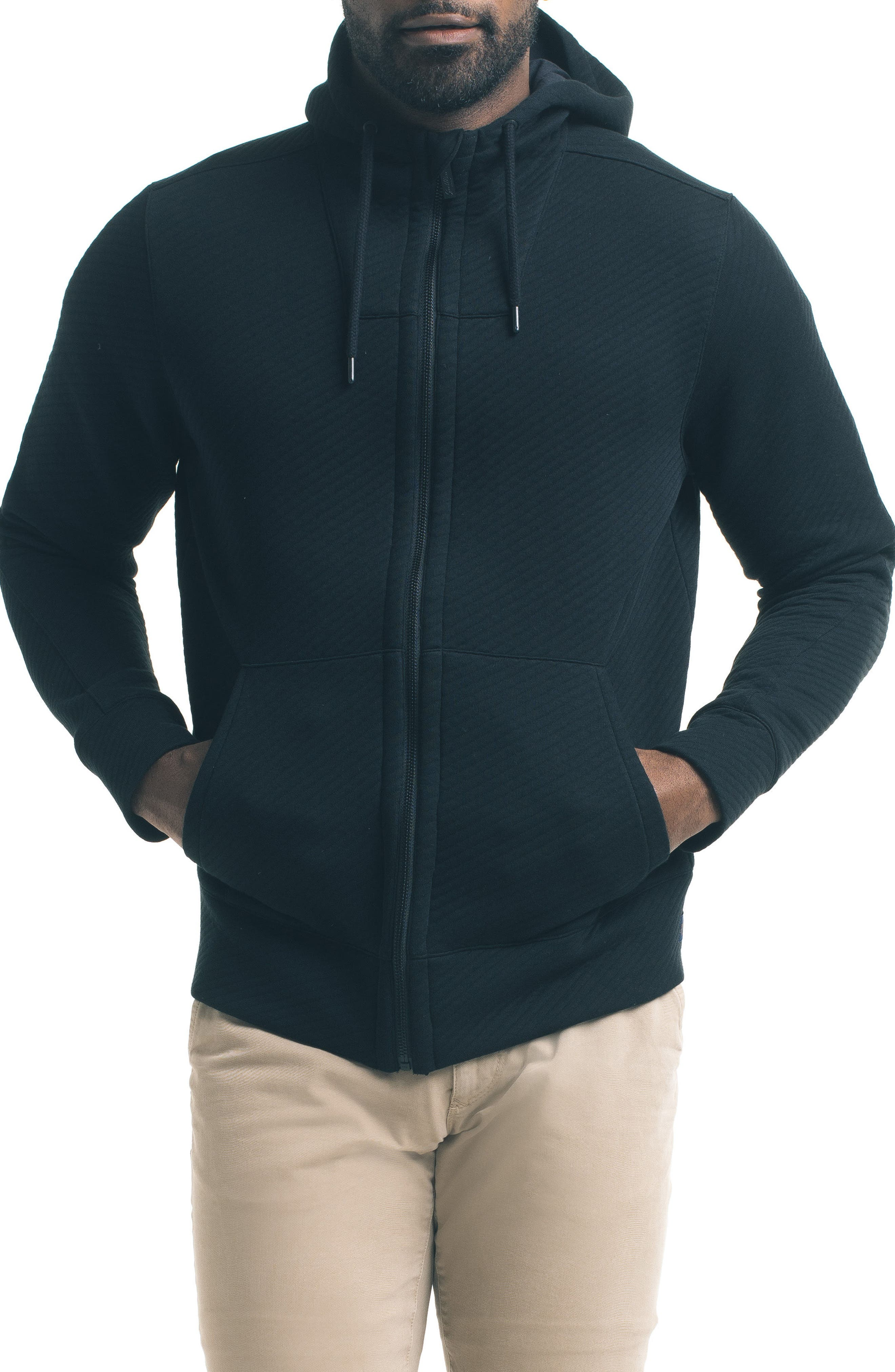 Texture Zip Hoodie,                         Main,                         color, 001