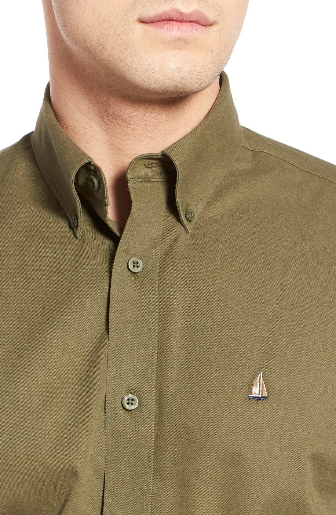 Smartcare<sup>™</sup> Traditional Fit Twill Boat Shirt,                             Alternate thumbnail 86, color,