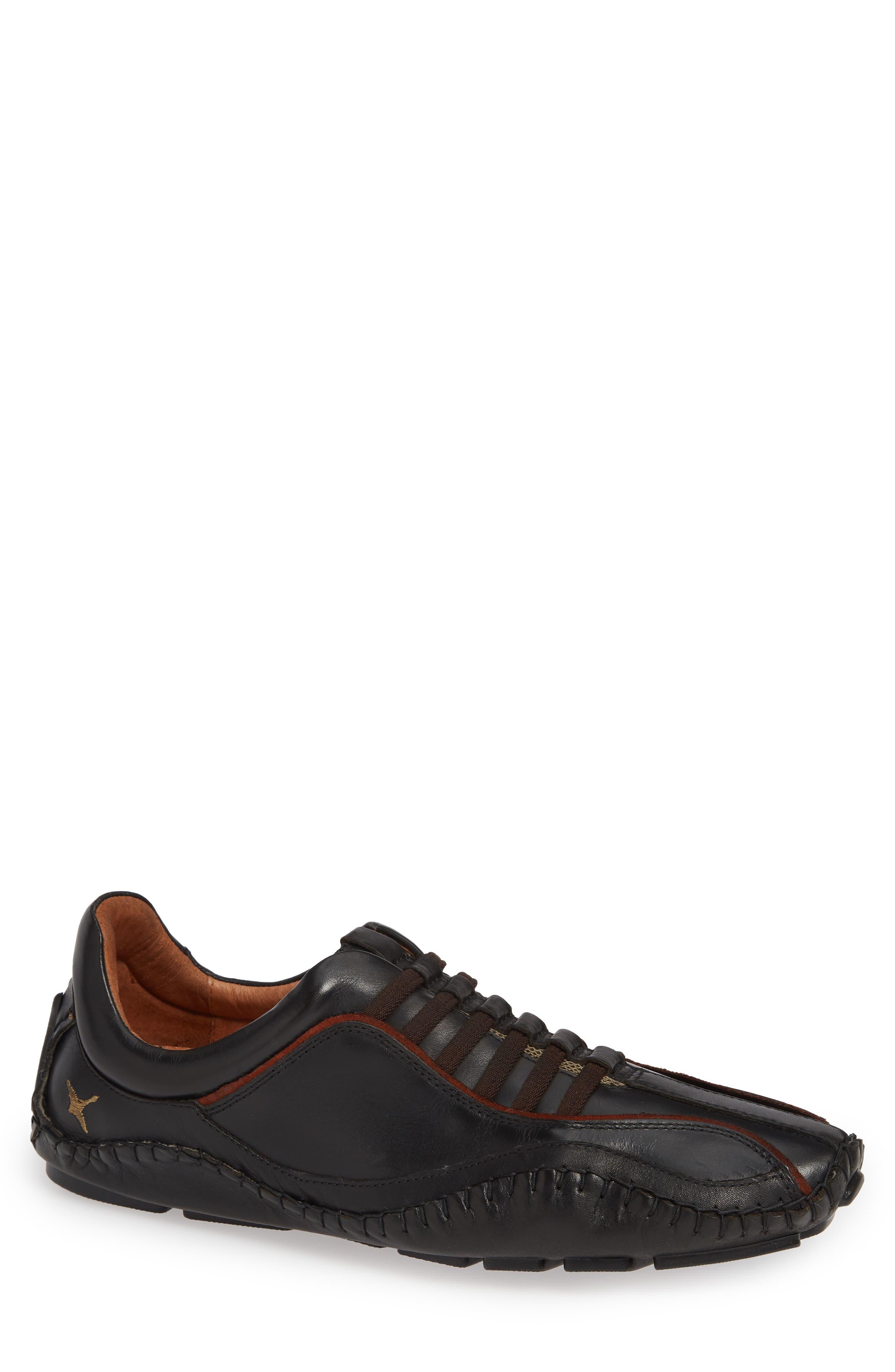 'Fuencarral' Driving Shoe, Main, color, BLACK
