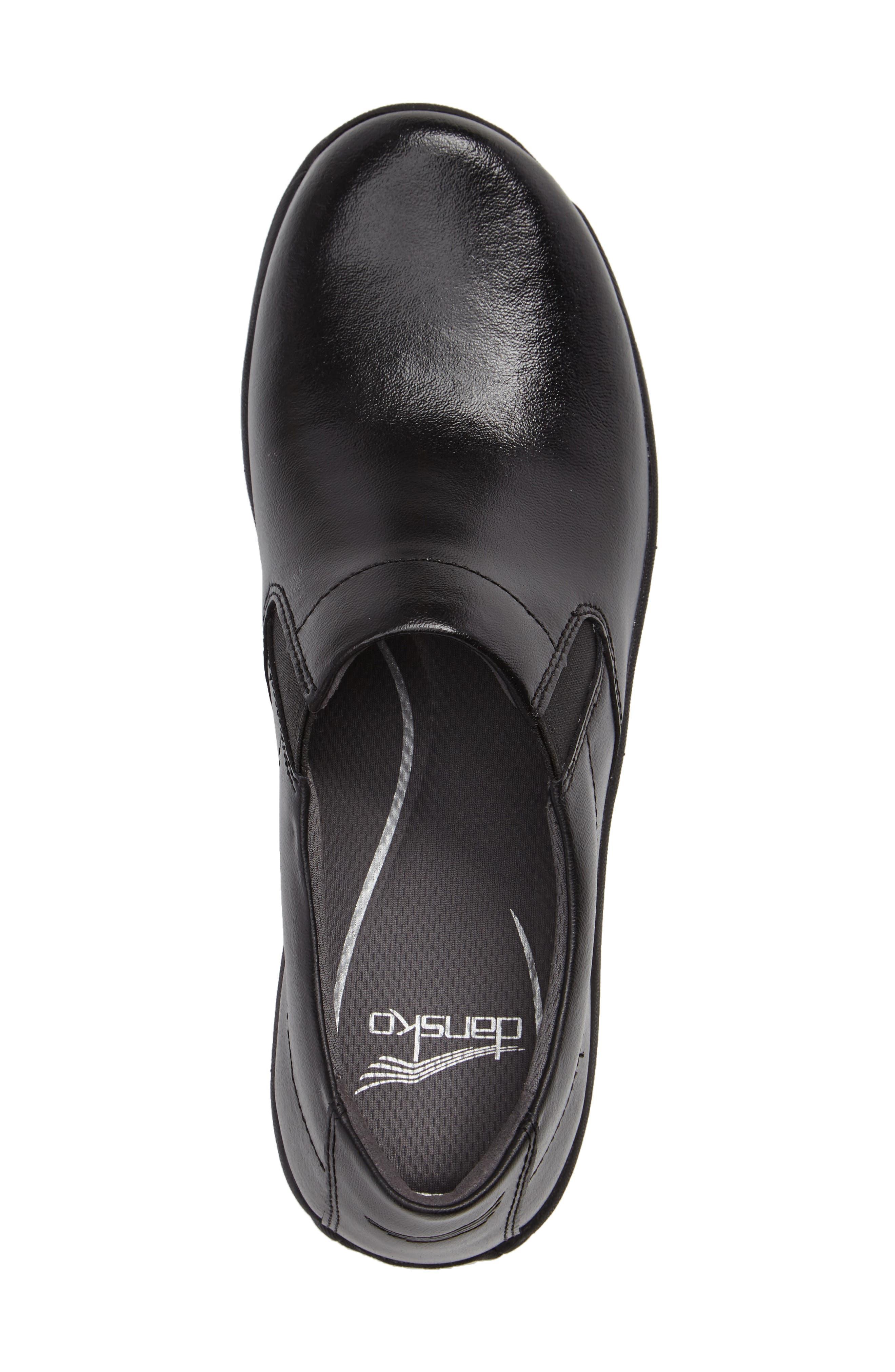 Ellie Slip-On Sneaker,                             Alternate thumbnail 3, color,                             BLACK LEATHER