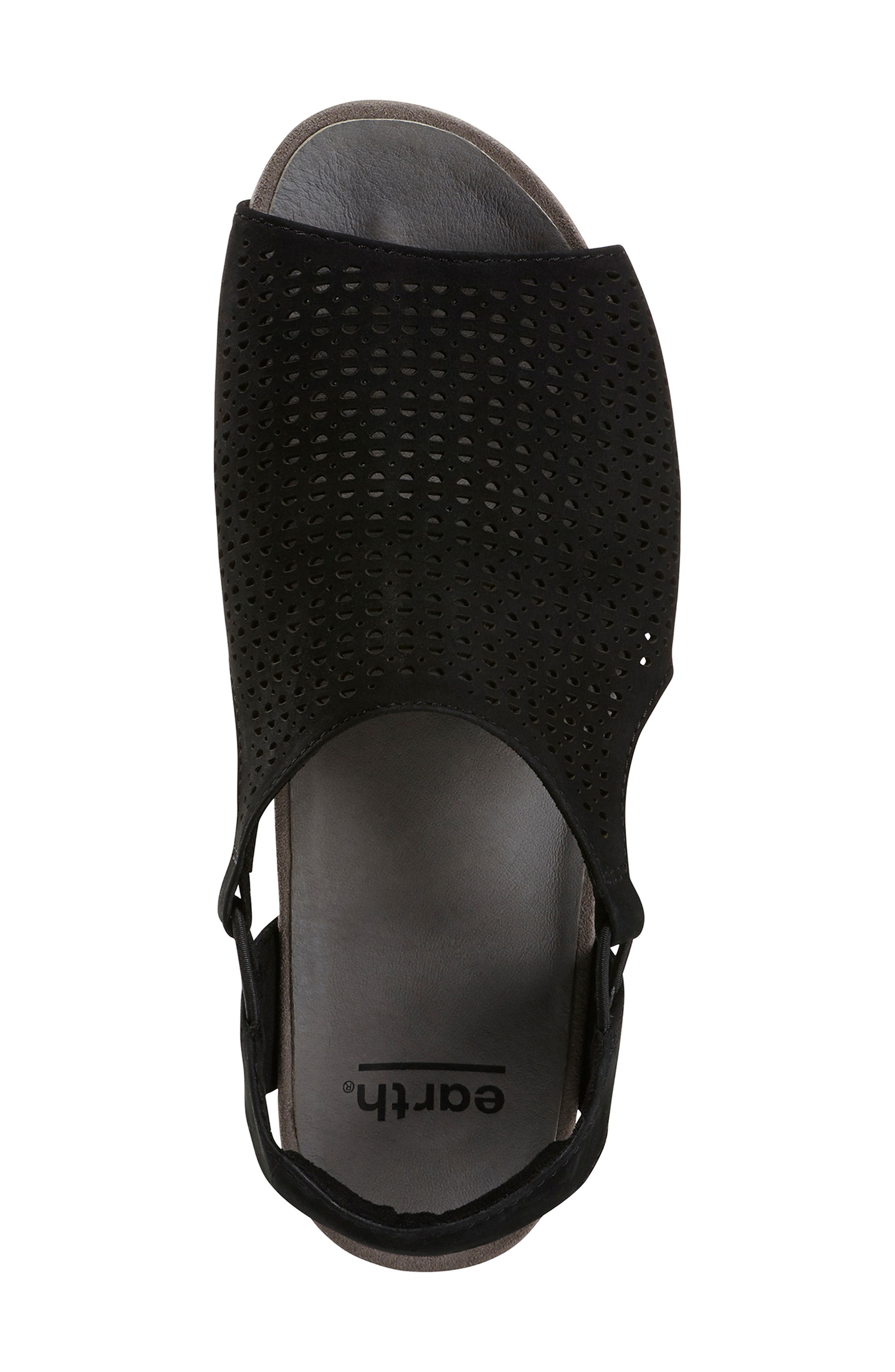 EARTH<SUP>®</SUP>,                             Laveen Sandal,                             Alternate thumbnail 5, color,                             BLACK LEATHER