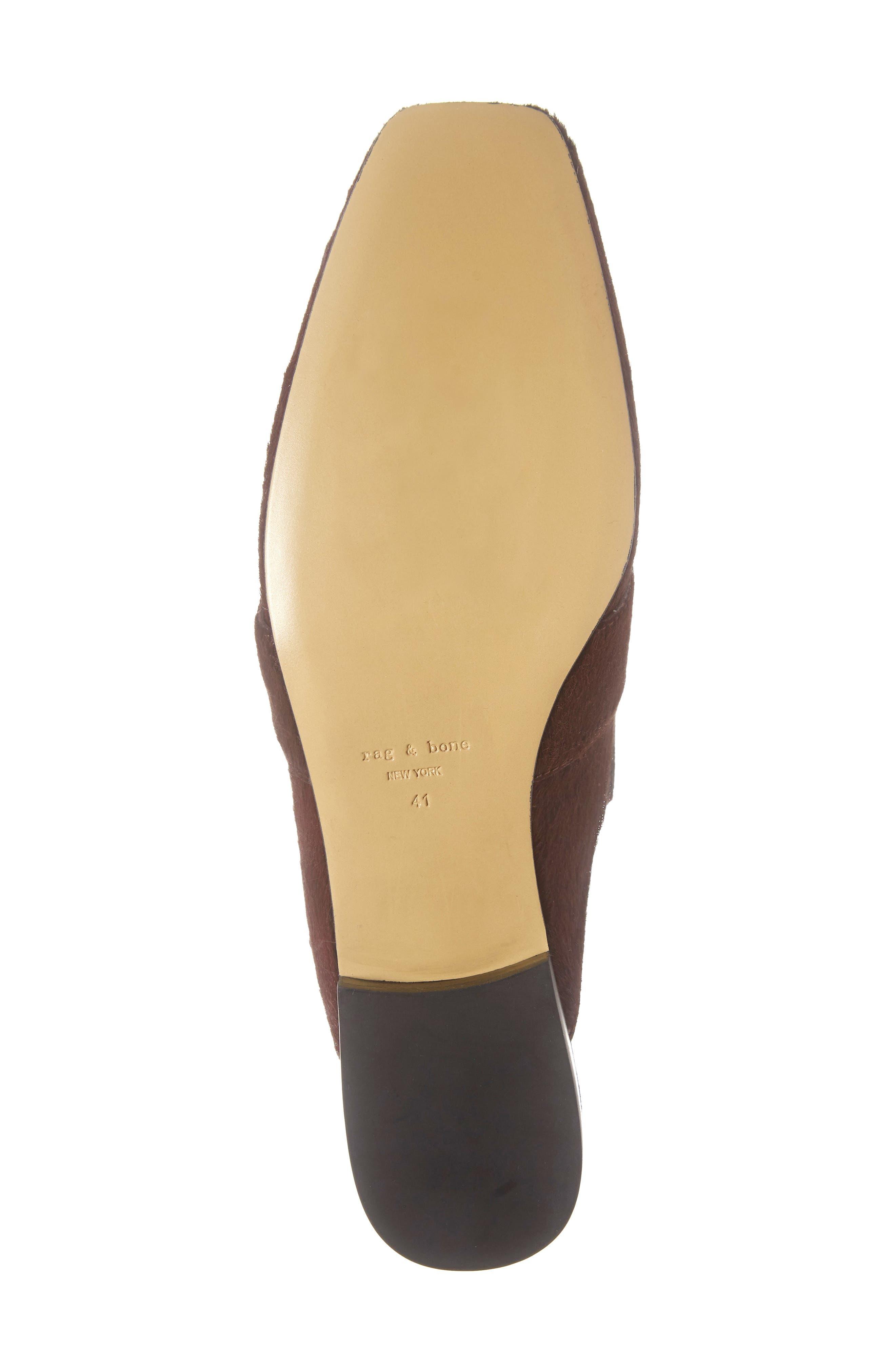 Aslen Genuine Calf Hair Loafer Mule,                             Alternate thumbnail 6, color,                             BURGUNDY CALF HAIR