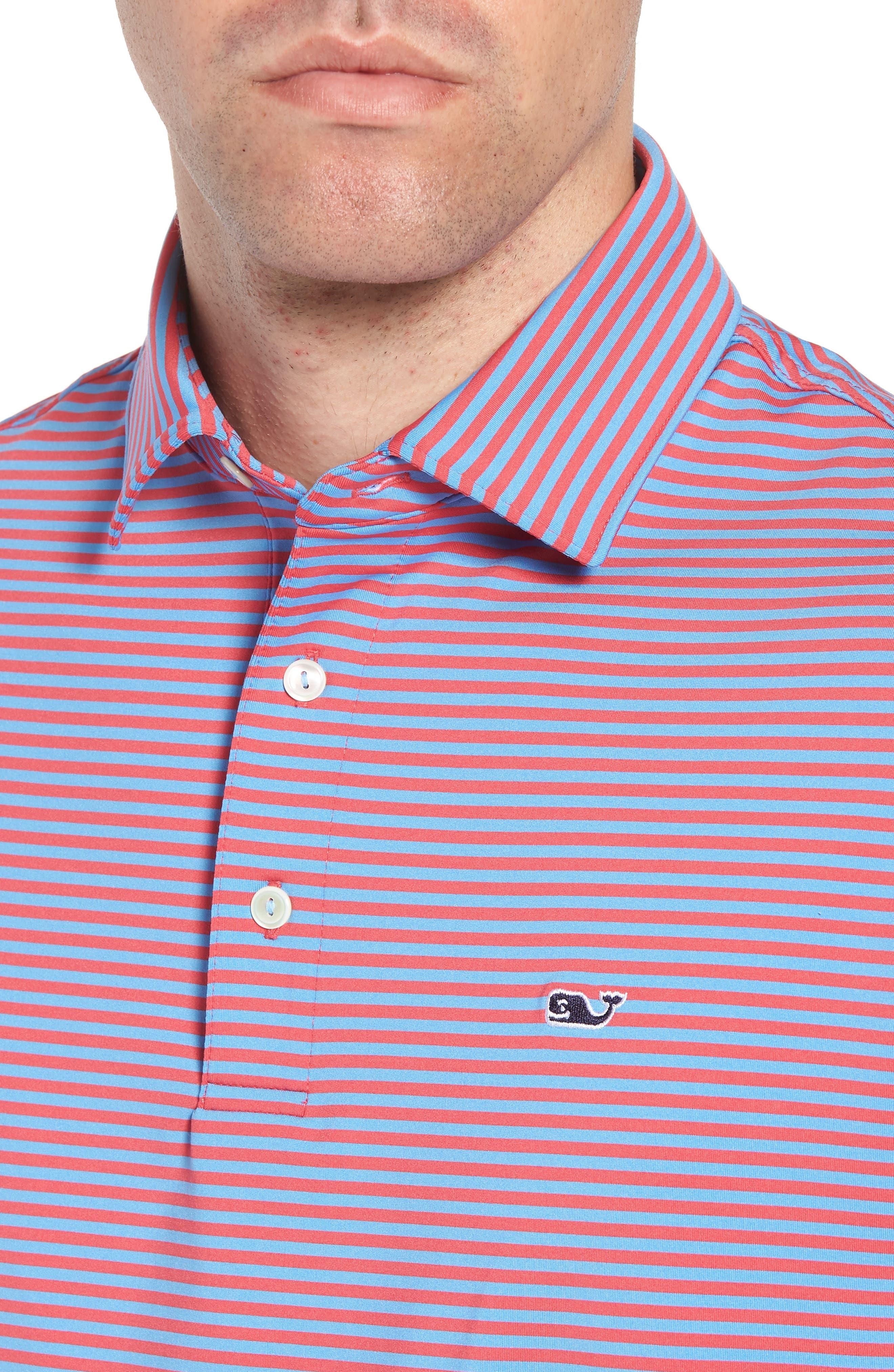 Kennedy Stripe Golf Polo,                             Alternate thumbnail 63, color,