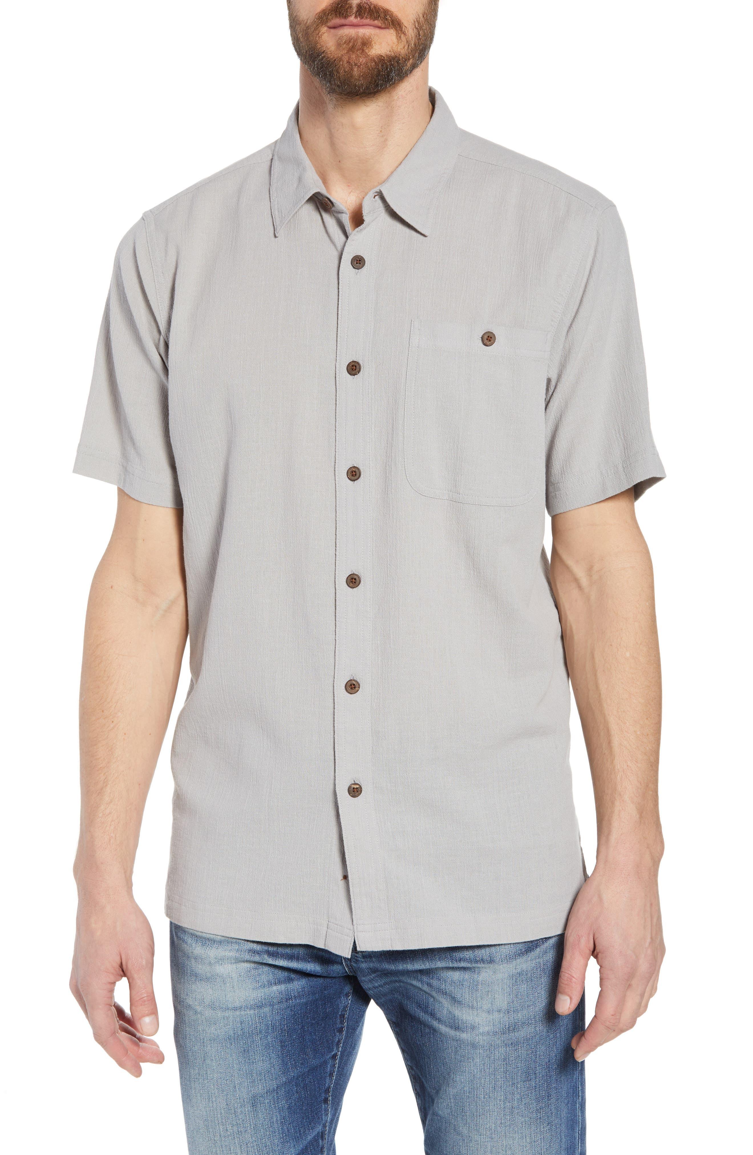 'A/C<sup>®</sup>' Regular Fit Organic Cotton Short Sleeve Sport Shirt,                             Main thumbnail 1, color,                             022