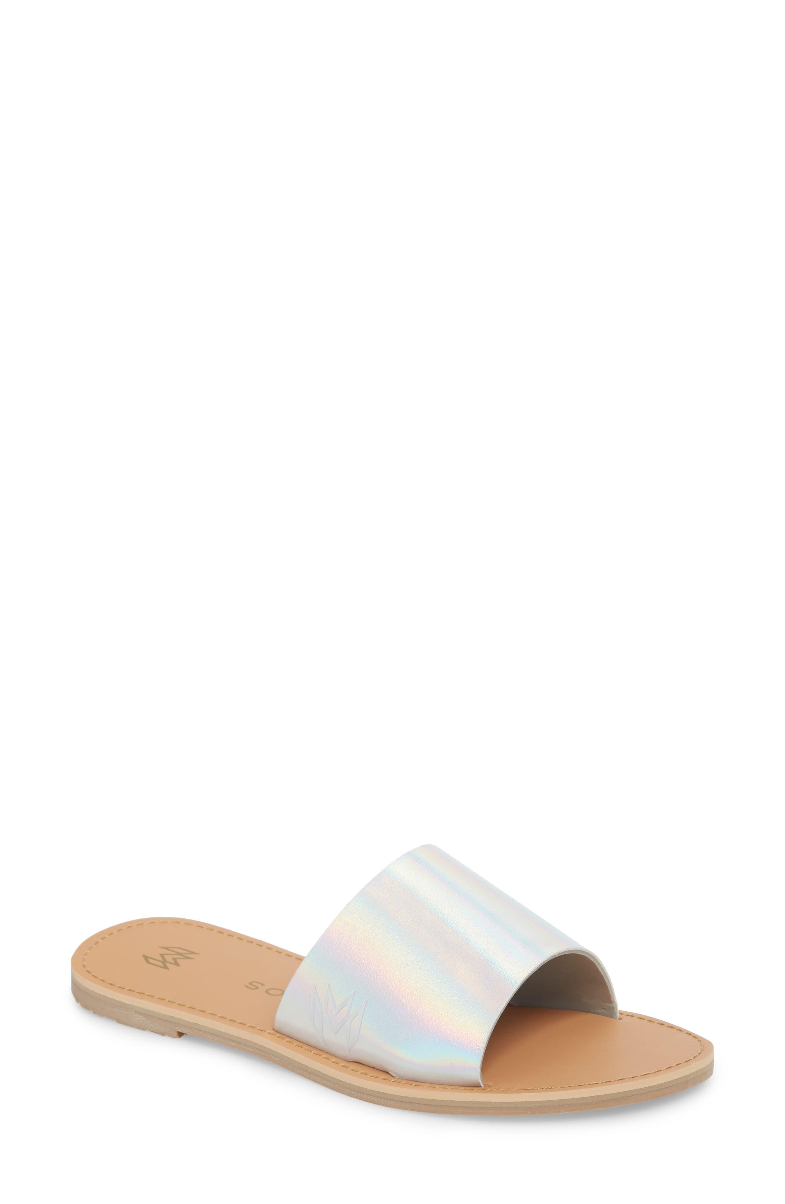 Icon Taylor Slide Sandal,                             Main thumbnail 1, color,                             PLATINUM