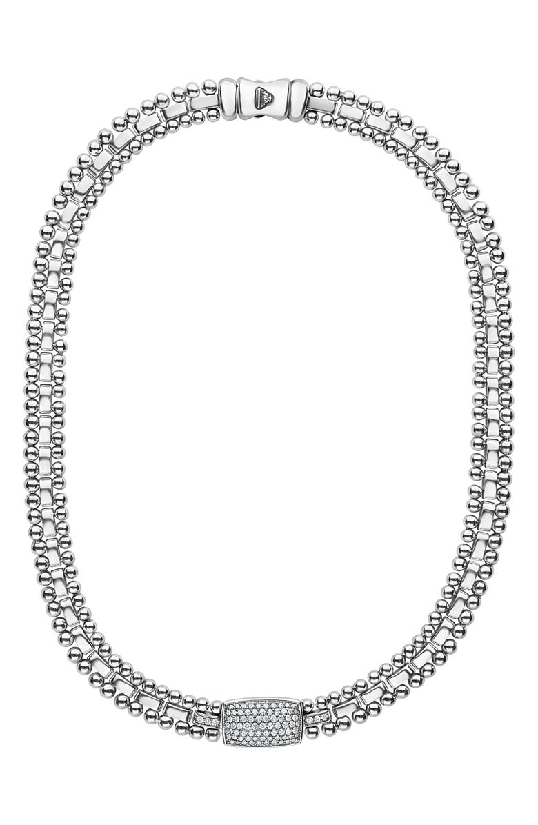 Lagos CAVIAR SPARK DIAMOND PAVE COLLAR NECKLACE