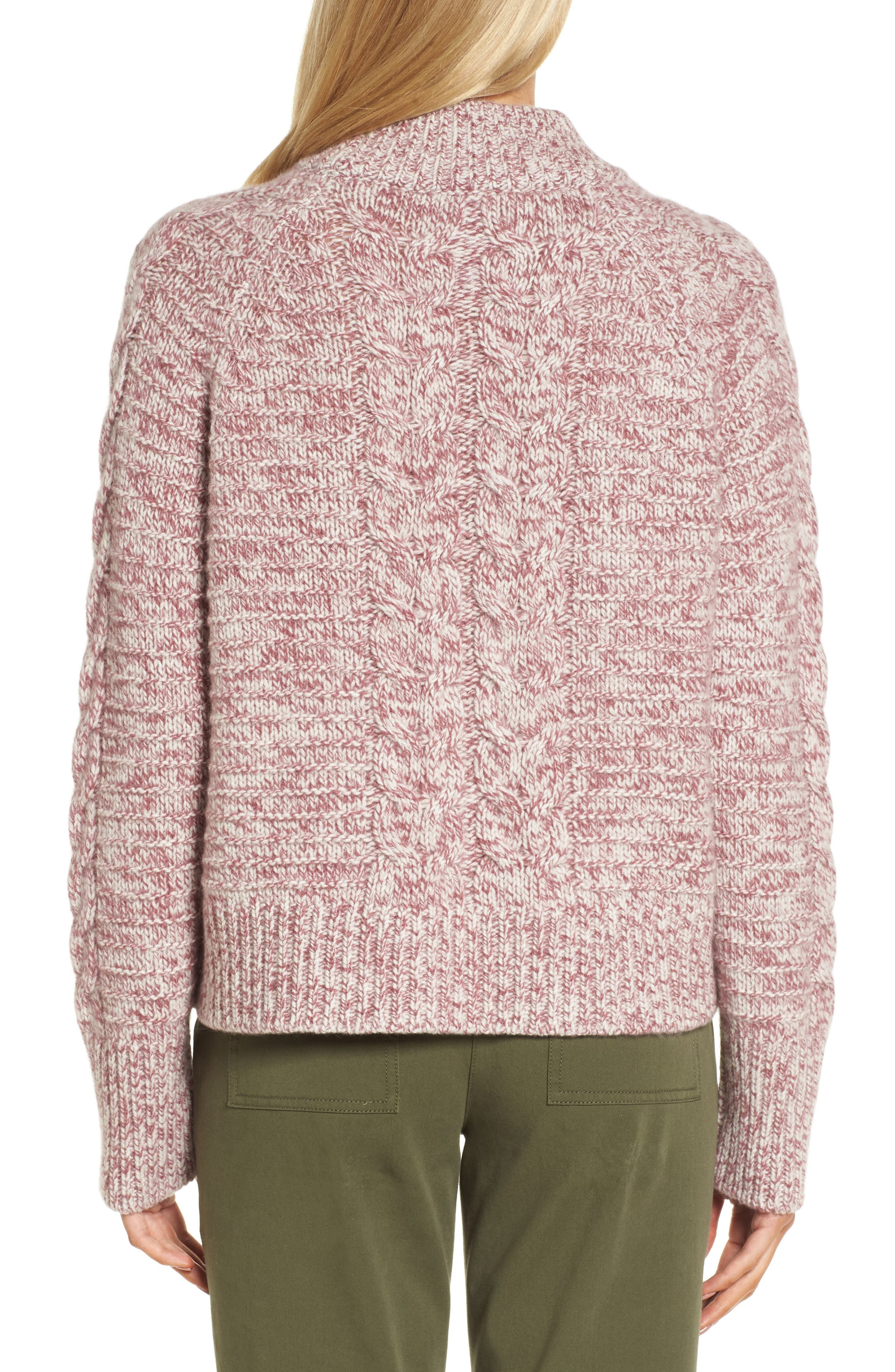 Cashmere Cable Knit Sweater,                             Alternate thumbnail 2, color,                             938
