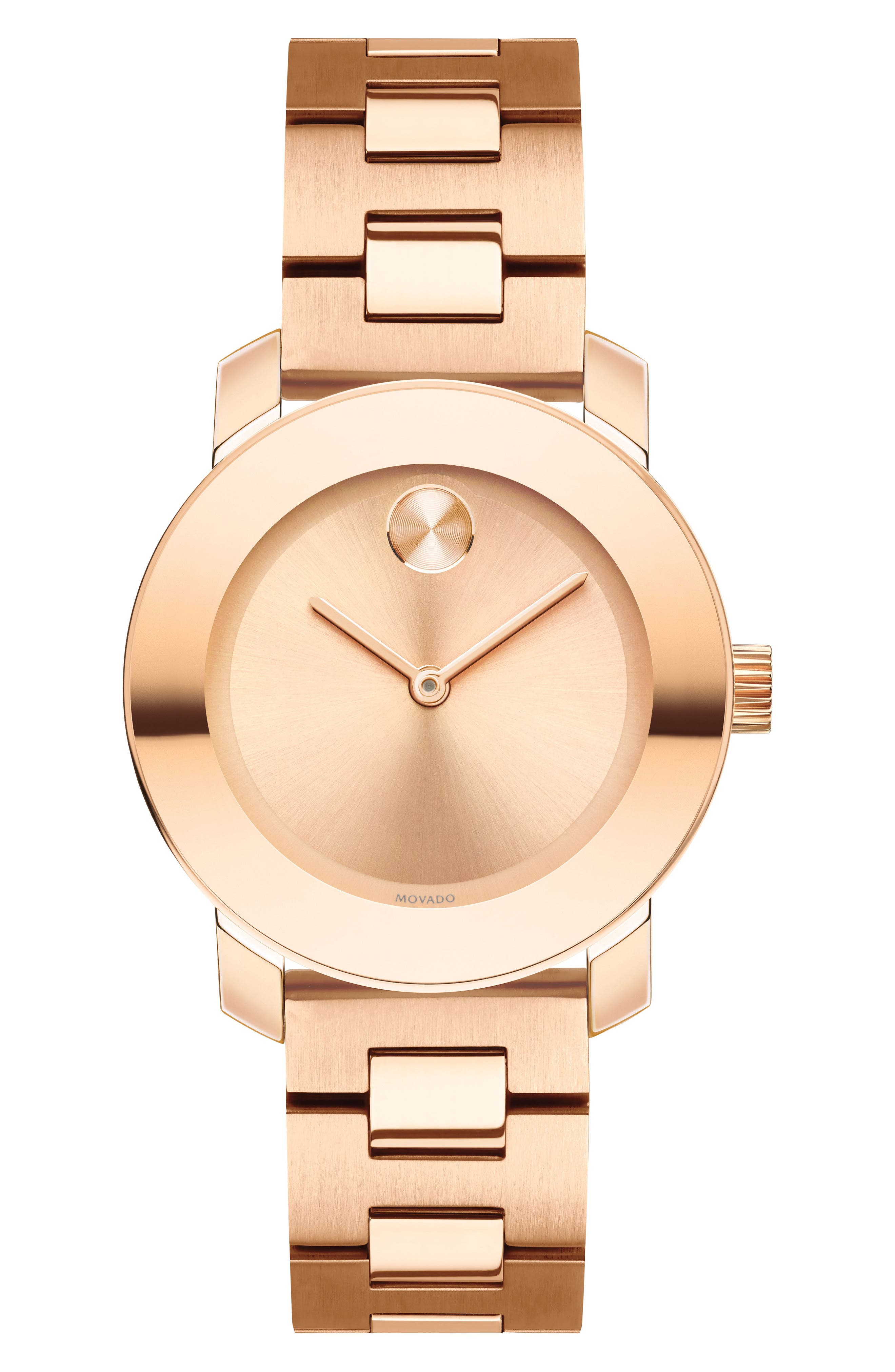 Bold Bracelet Watch, 30mm,                         Main,                         color, ROSE GOLD