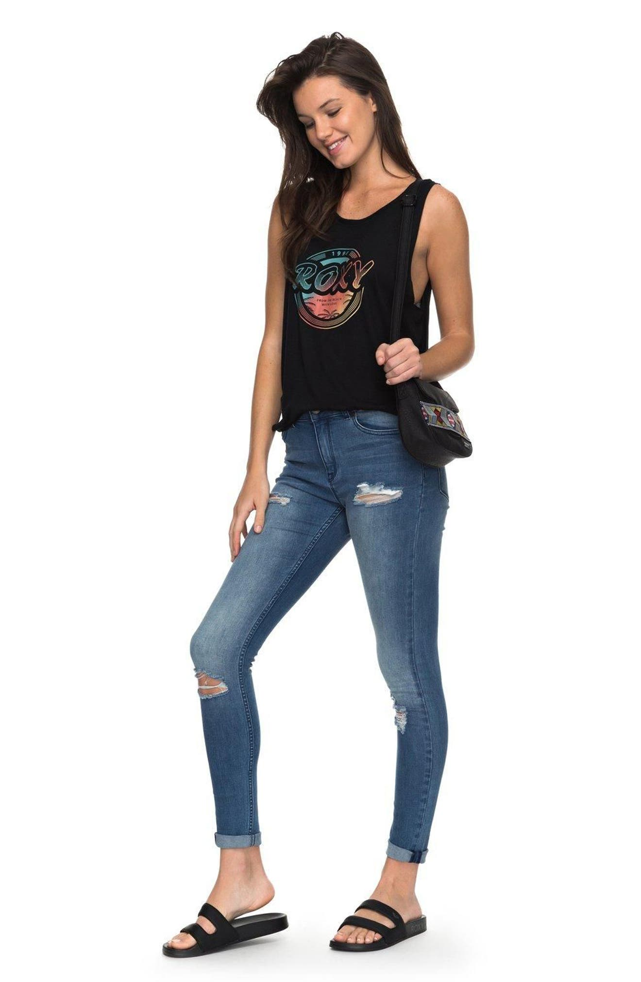 Just the Good Day Distressed Skinny Jeans,                             Alternate thumbnail 4, color,