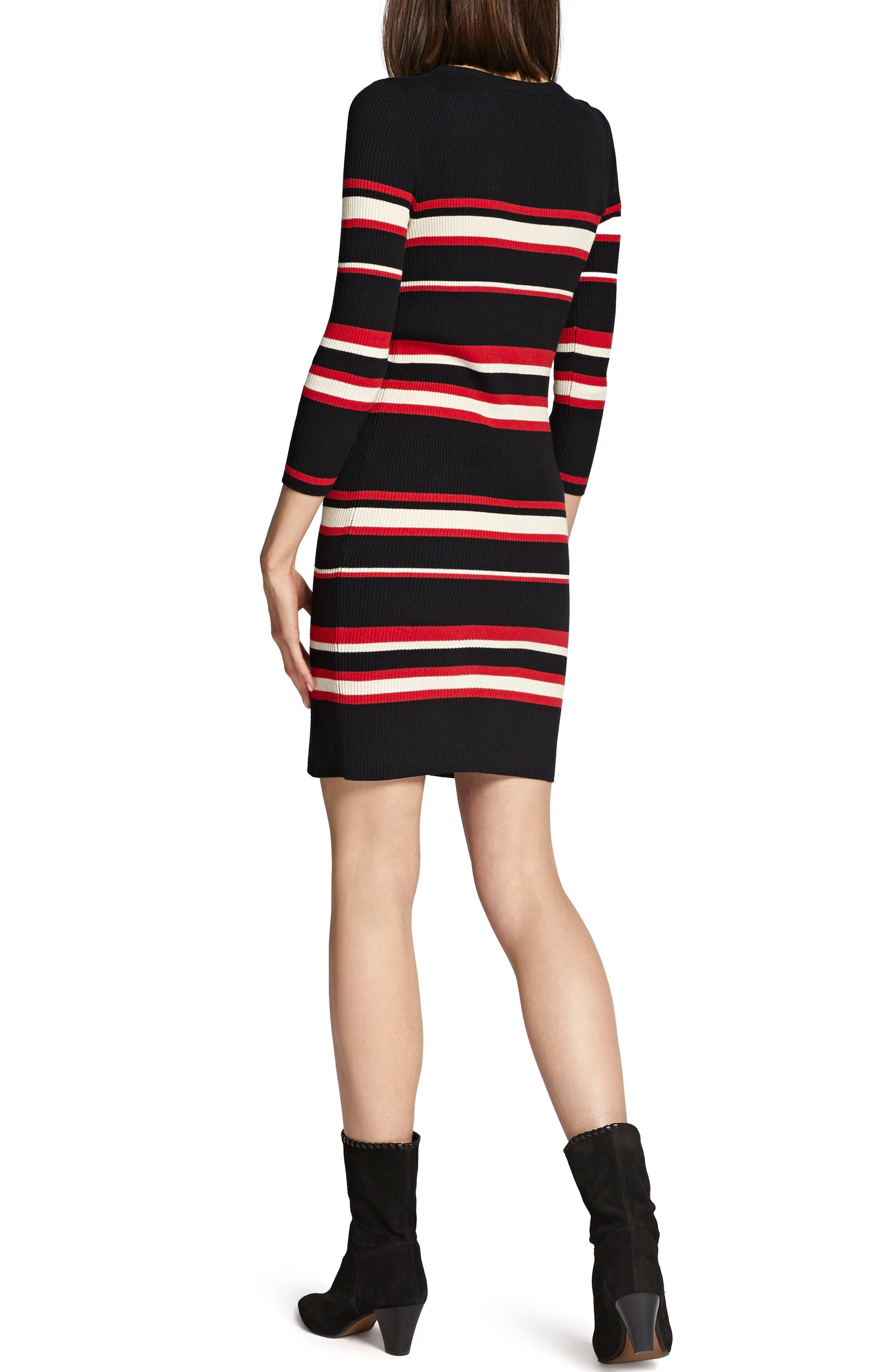 Trailblaze Body-Con Cotton Blend Sweater Dress,                             Alternate thumbnail 2, color,                             MULTI STRIPE
