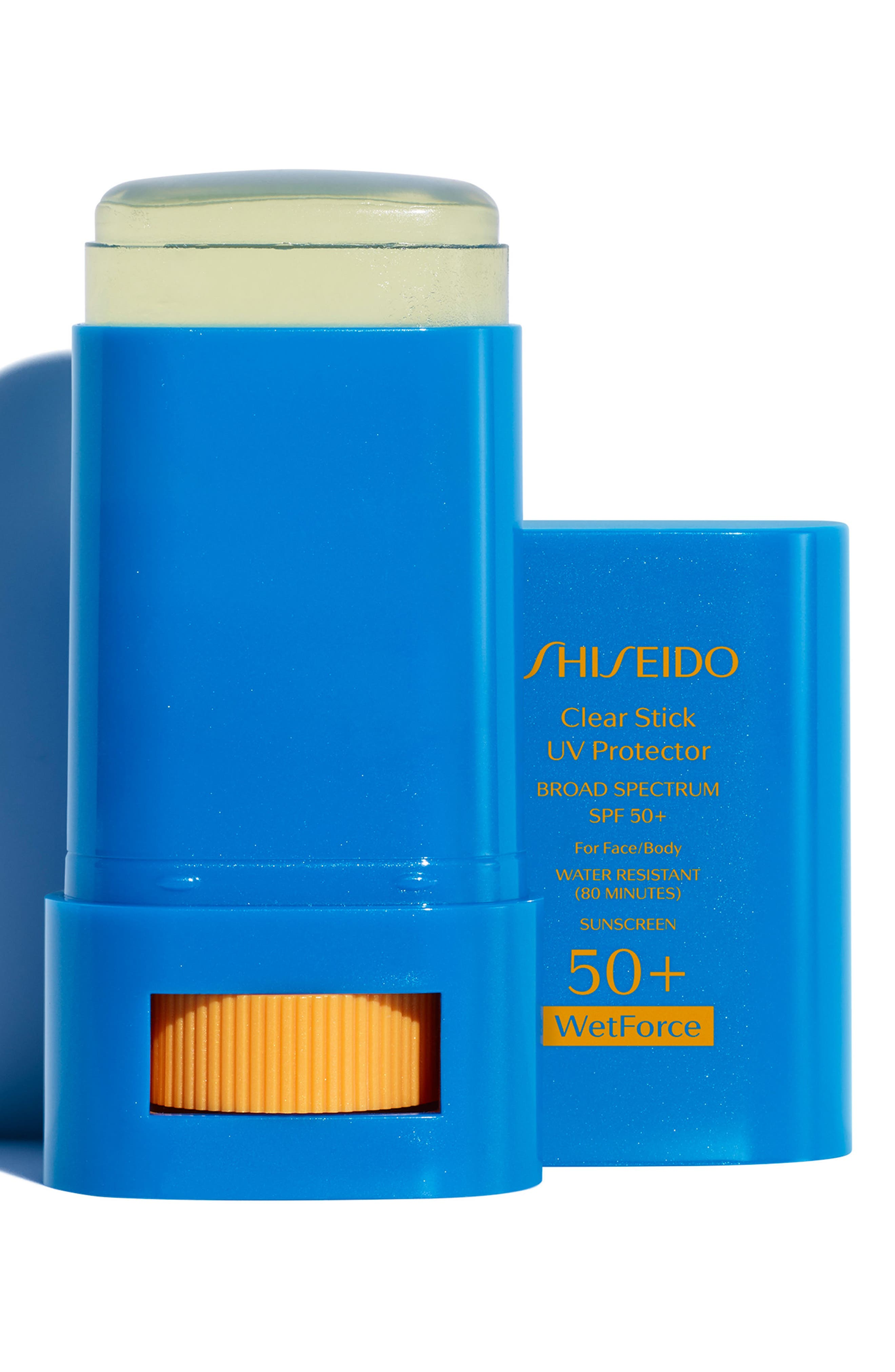 SHISEIDO,                             WetForce Clear Stick UV Protector Broad Spectrum SPF 50+,                             Alternate thumbnail 2, color,                             NO COLOR
