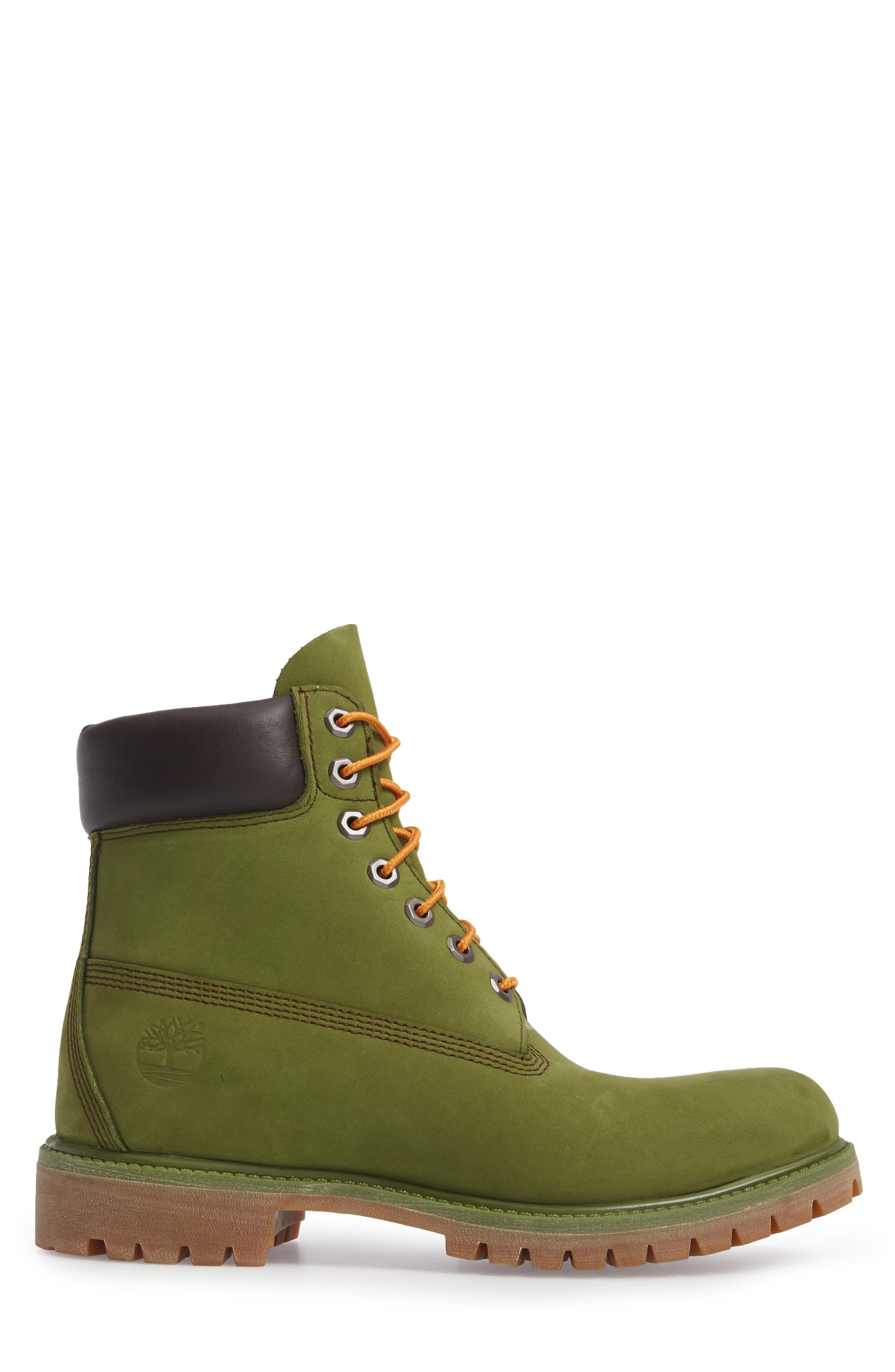 'Six Inch Classic Boots Series - Premium' Boot,                             Alternate thumbnail 3, color,                             PESTO WATERBUCK