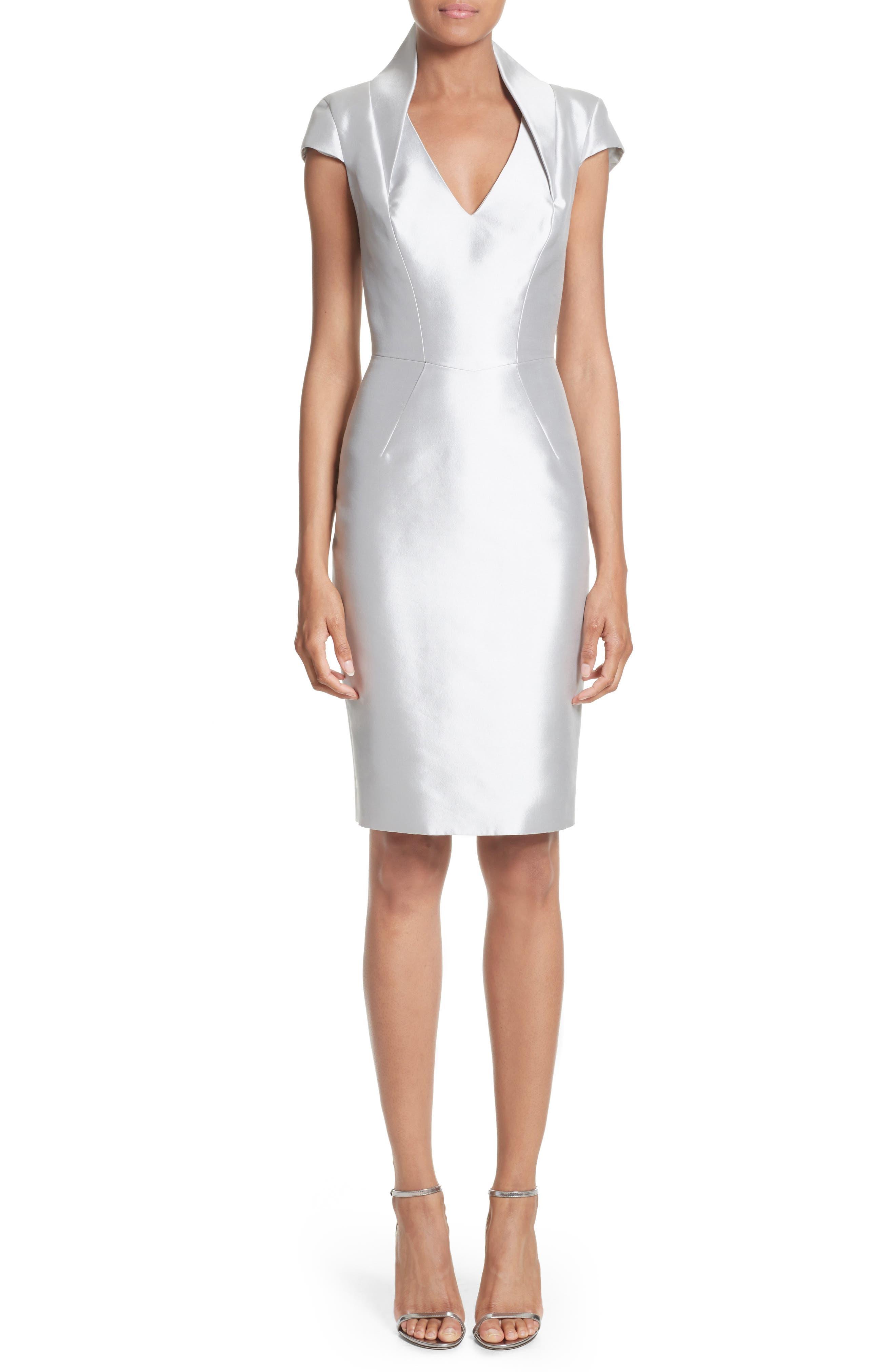 Cap Sleeve Sheath Dress,                             Main thumbnail 1, color,                             040