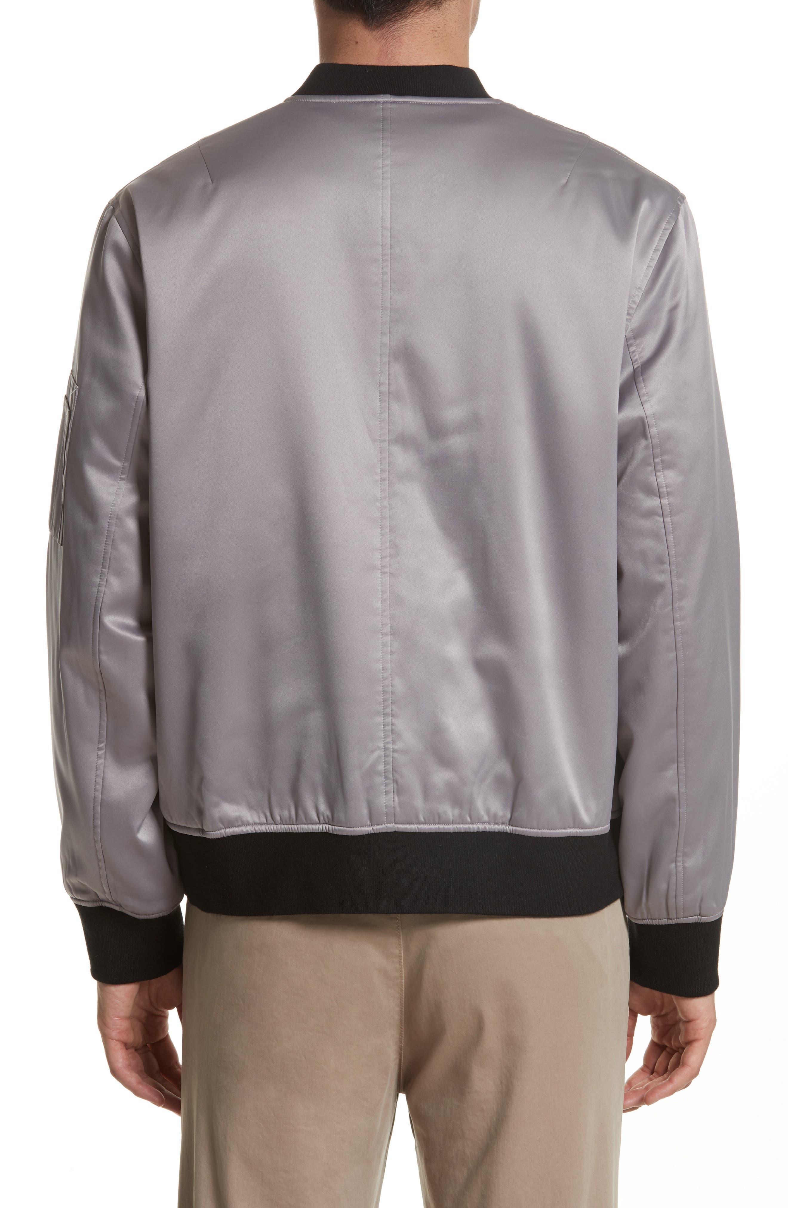 Reversible Zip Front Bomber Jacket,                             Alternate thumbnail 3, color,                             009