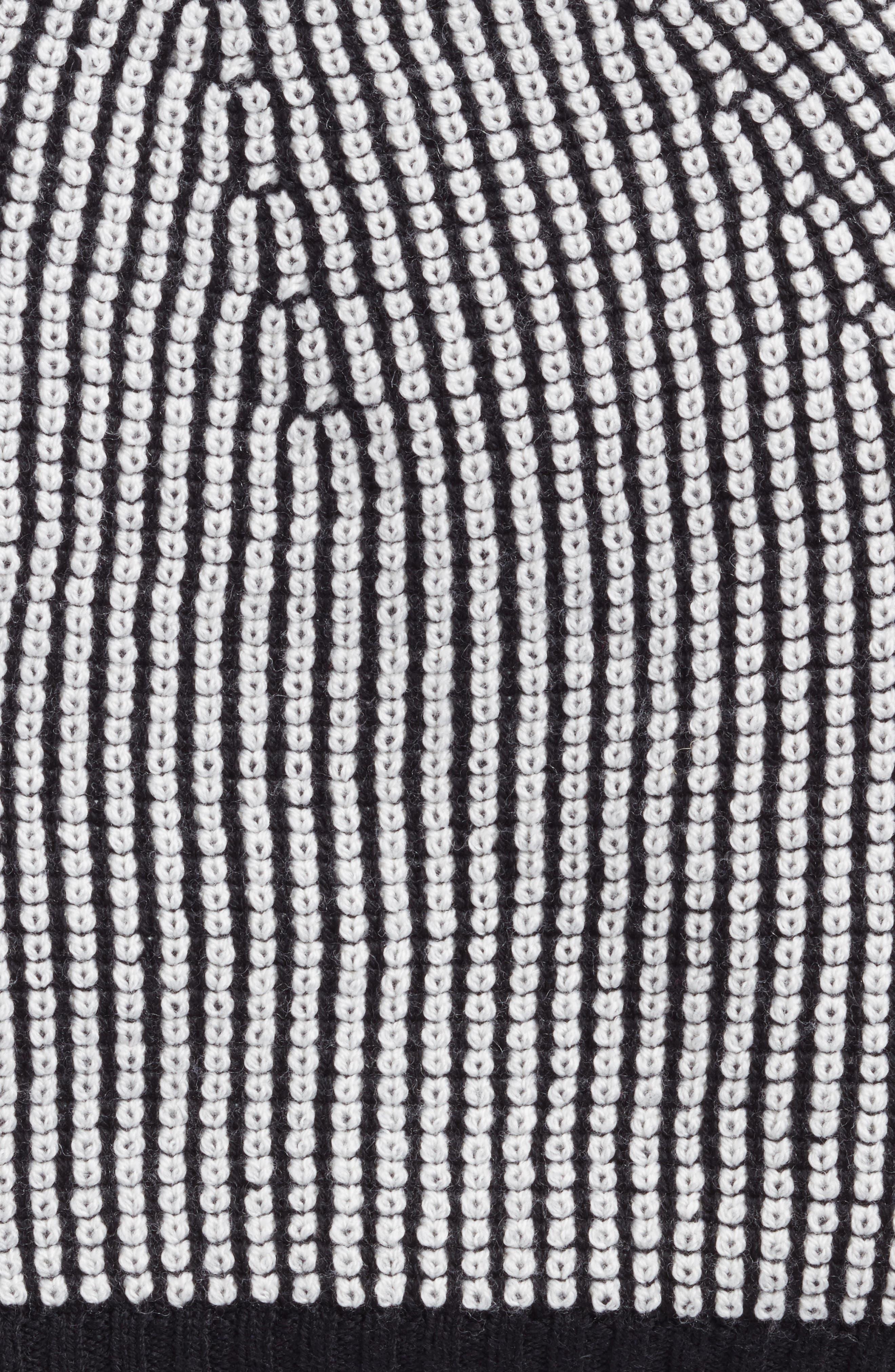 Stripe Merino Wool Beanie,                             Alternate thumbnail 2, color,
