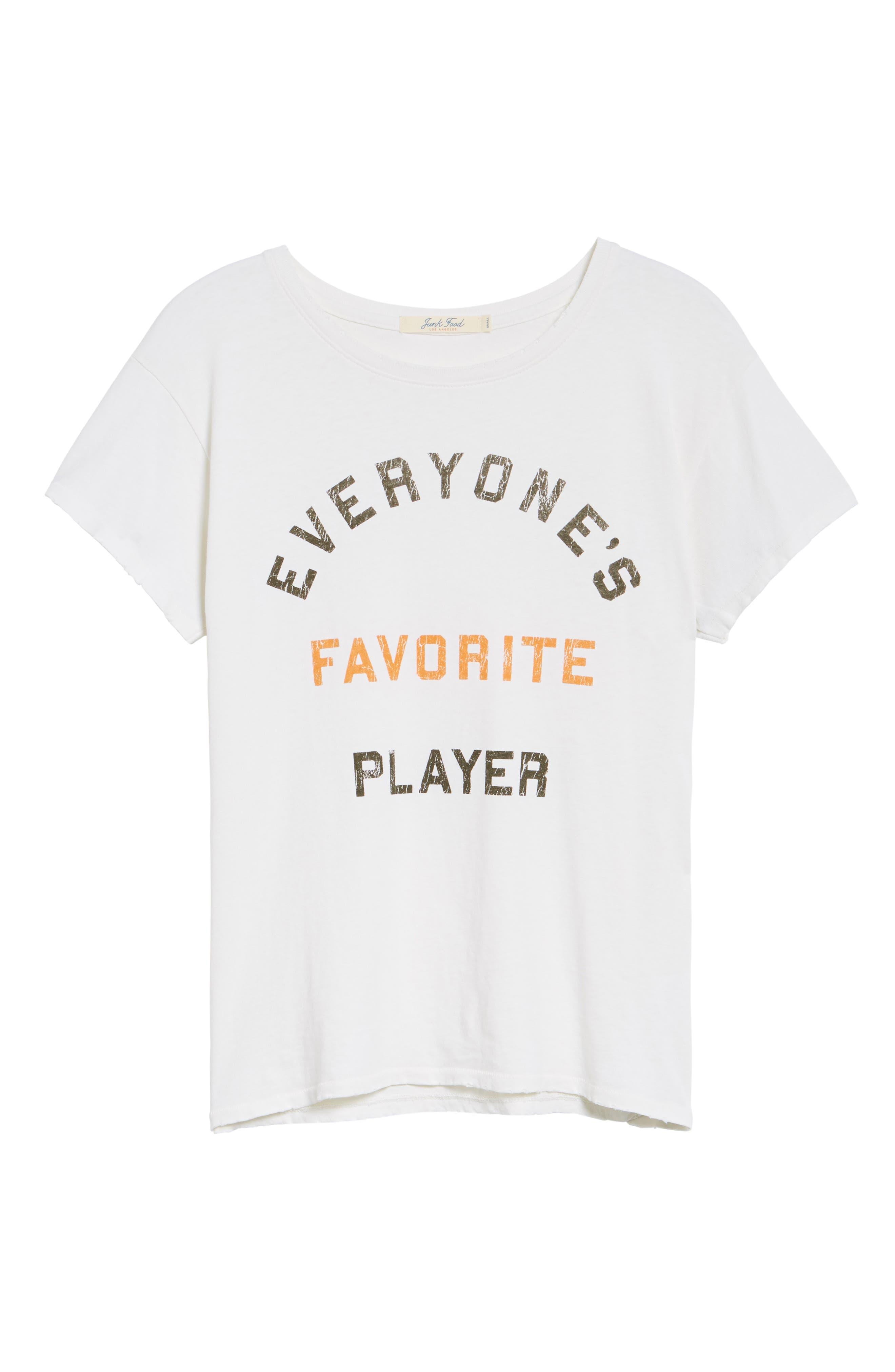 Everyone's Favorite Player Tee,                             Alternate thumbnail 7, color,                             VINTAGE WHITE ORANGE BLACK