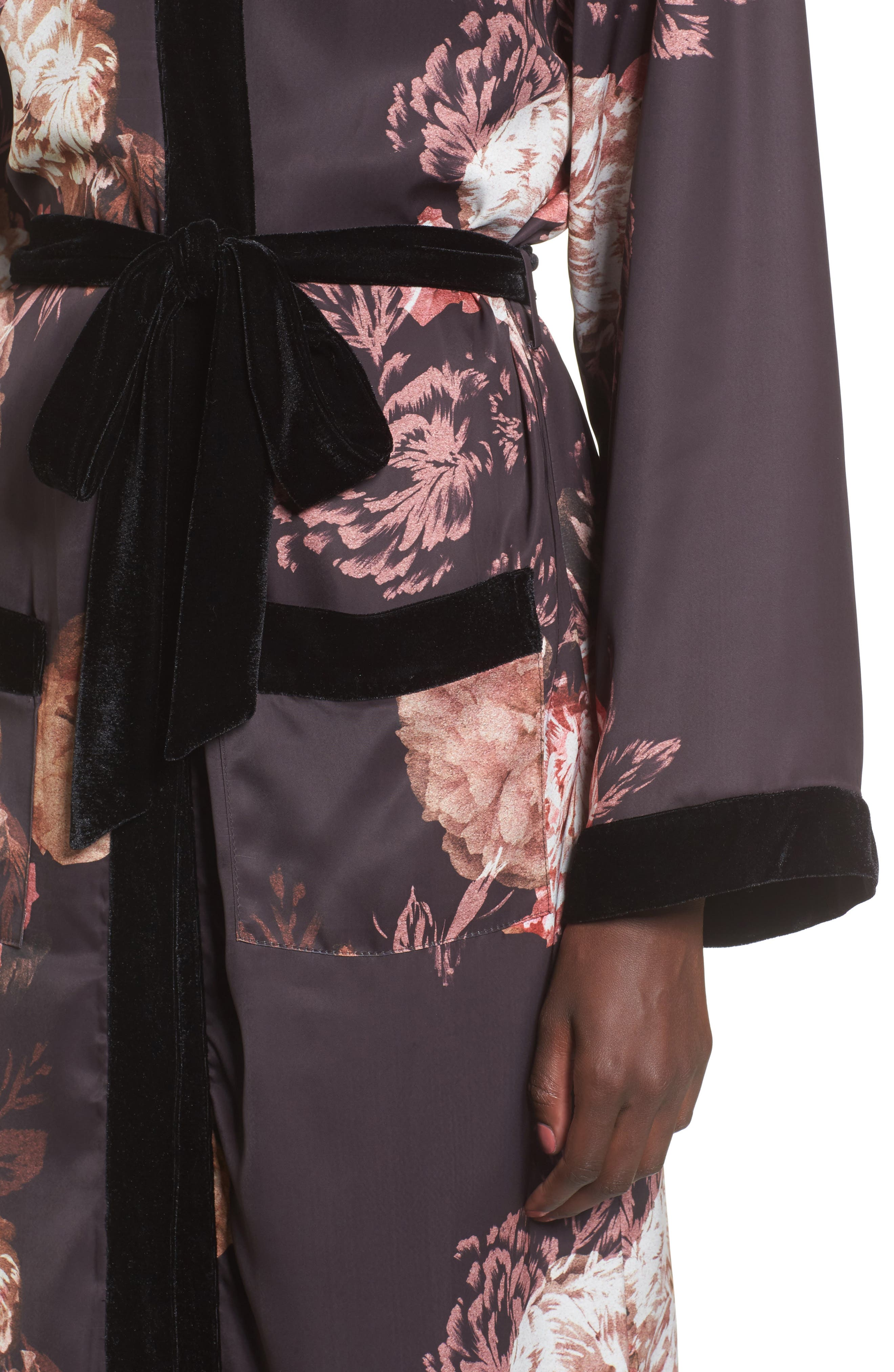 Floral Kimono,                             Alternate thumbnail 4, color,