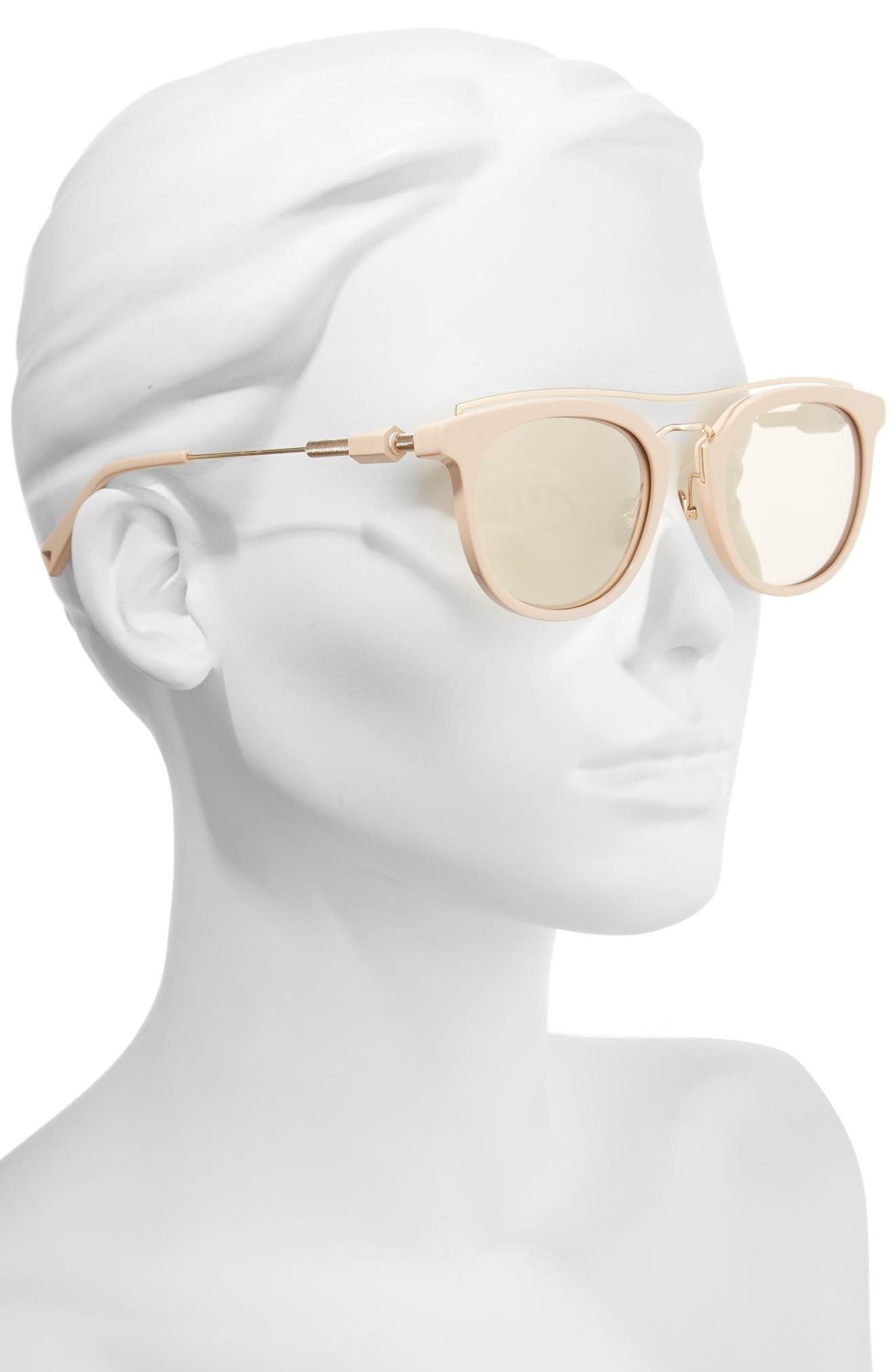 Zeal 52mm Aviator Sunglasses,                             Alternate thumbnail 7, color,