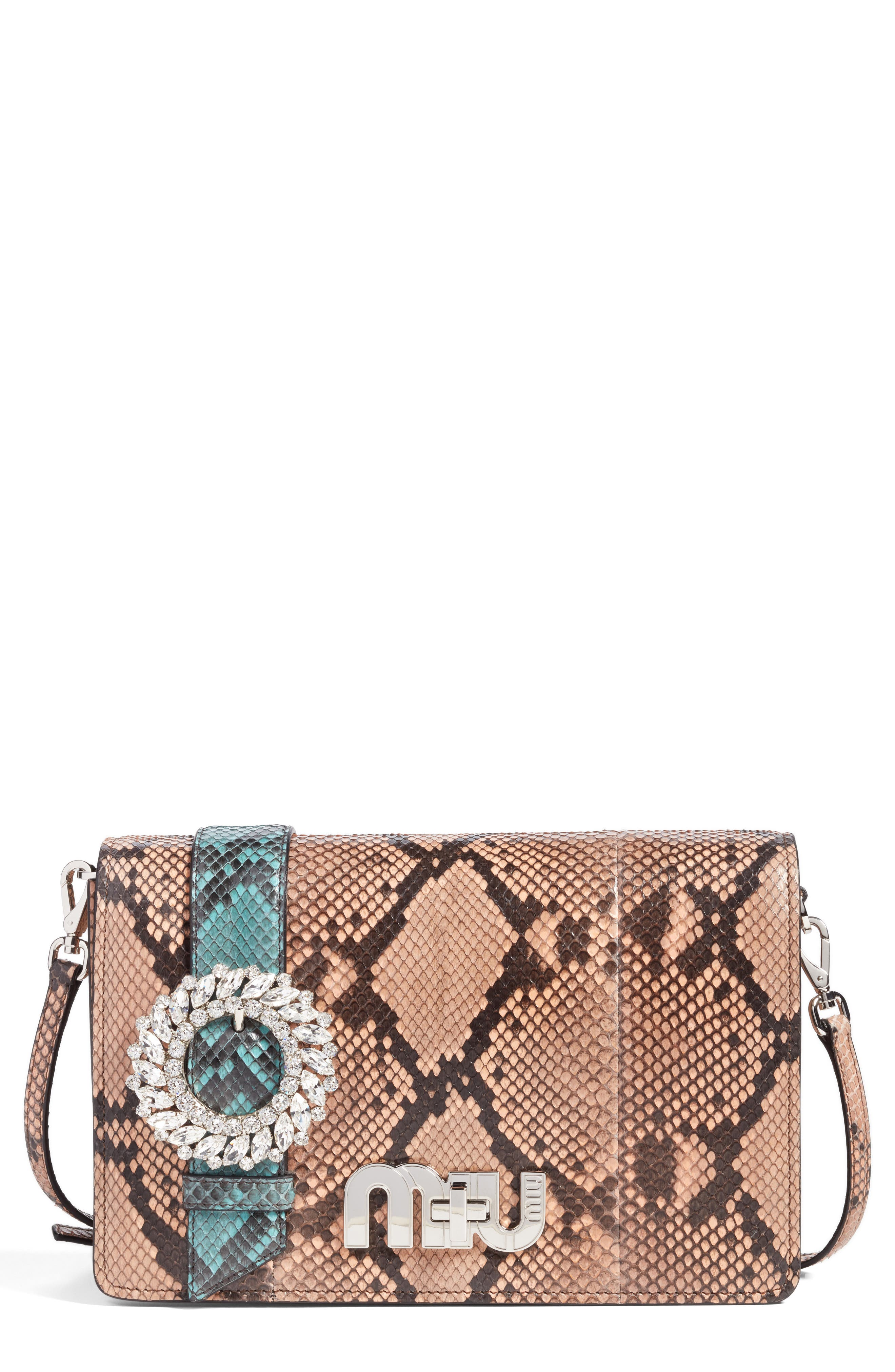 Genuine Python Shoulder Bag,                             Main thumbnail 2, color,