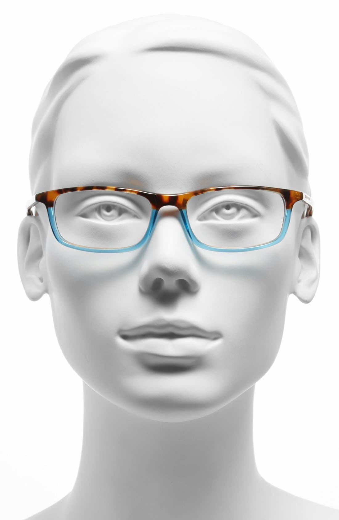 jodie 50mm reading glasses,                             Alternate thumbnail 2, color,                             HAVANA TEAL