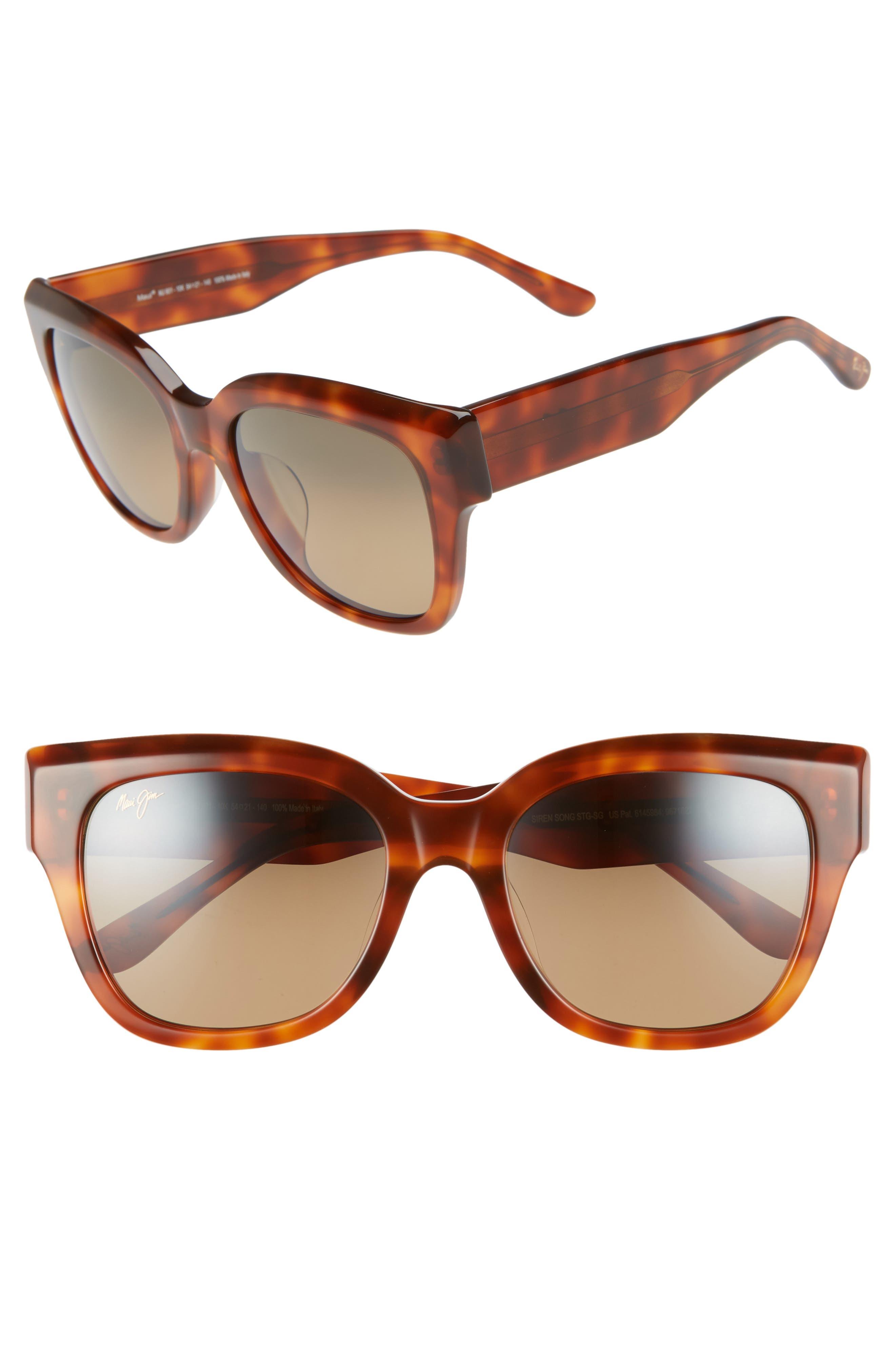 MAUI JIM Siren Song 54Mm Polarizedplus2 Cat Eye Sunglasses - Koa Tortoise