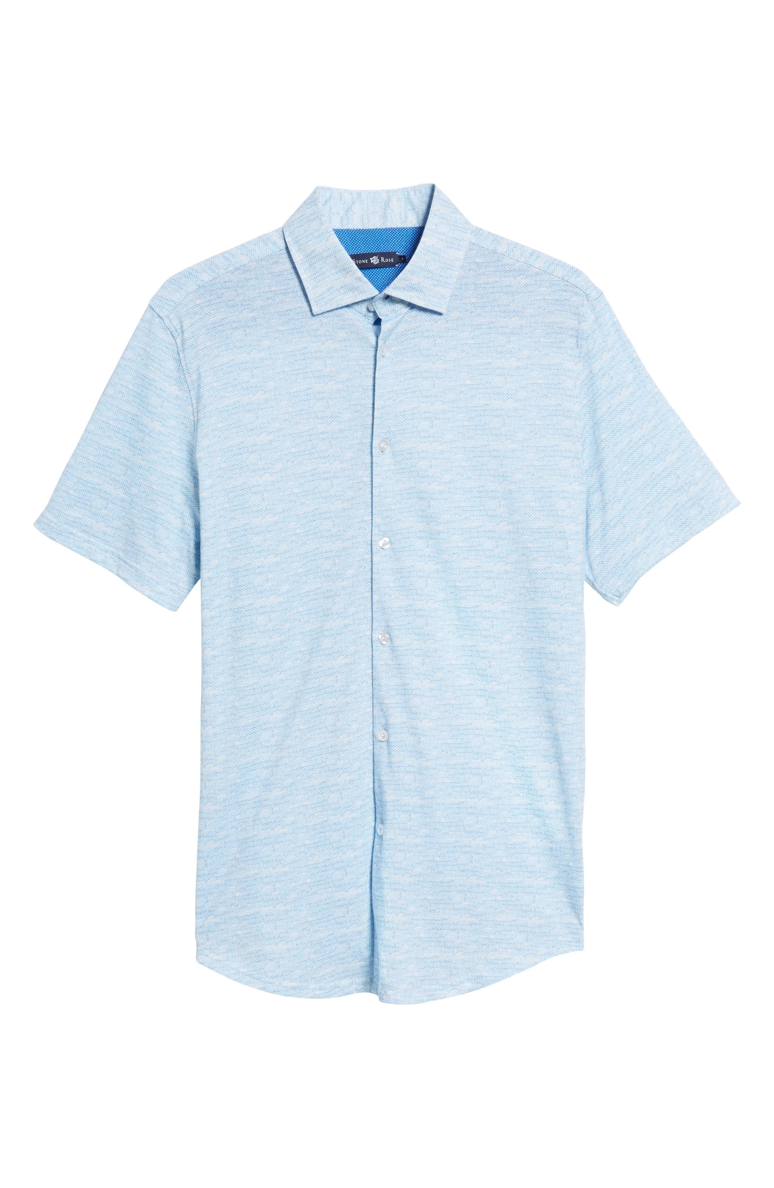 Trim Fit Mélange Sport Shirt,                             Alternate thumbnail 6, color,