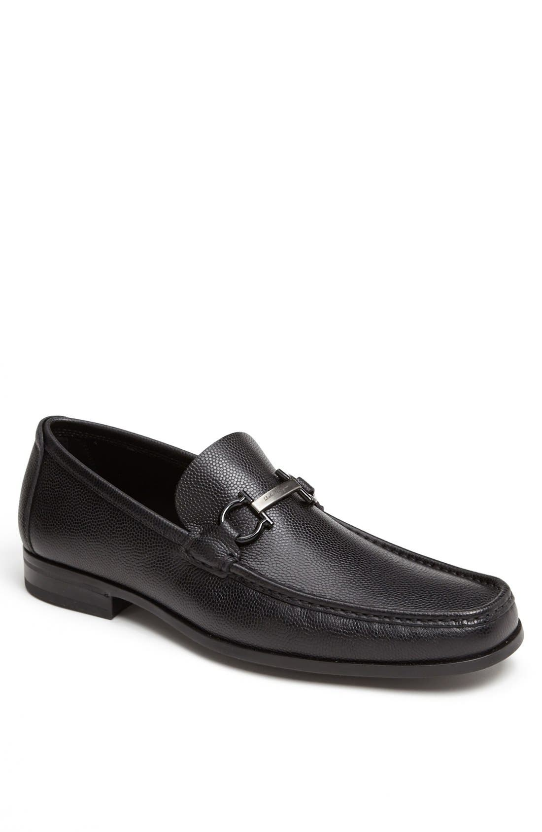 'Regal' Pebbled Leather Loafer,                             Main thumbnail 1, color,                             001