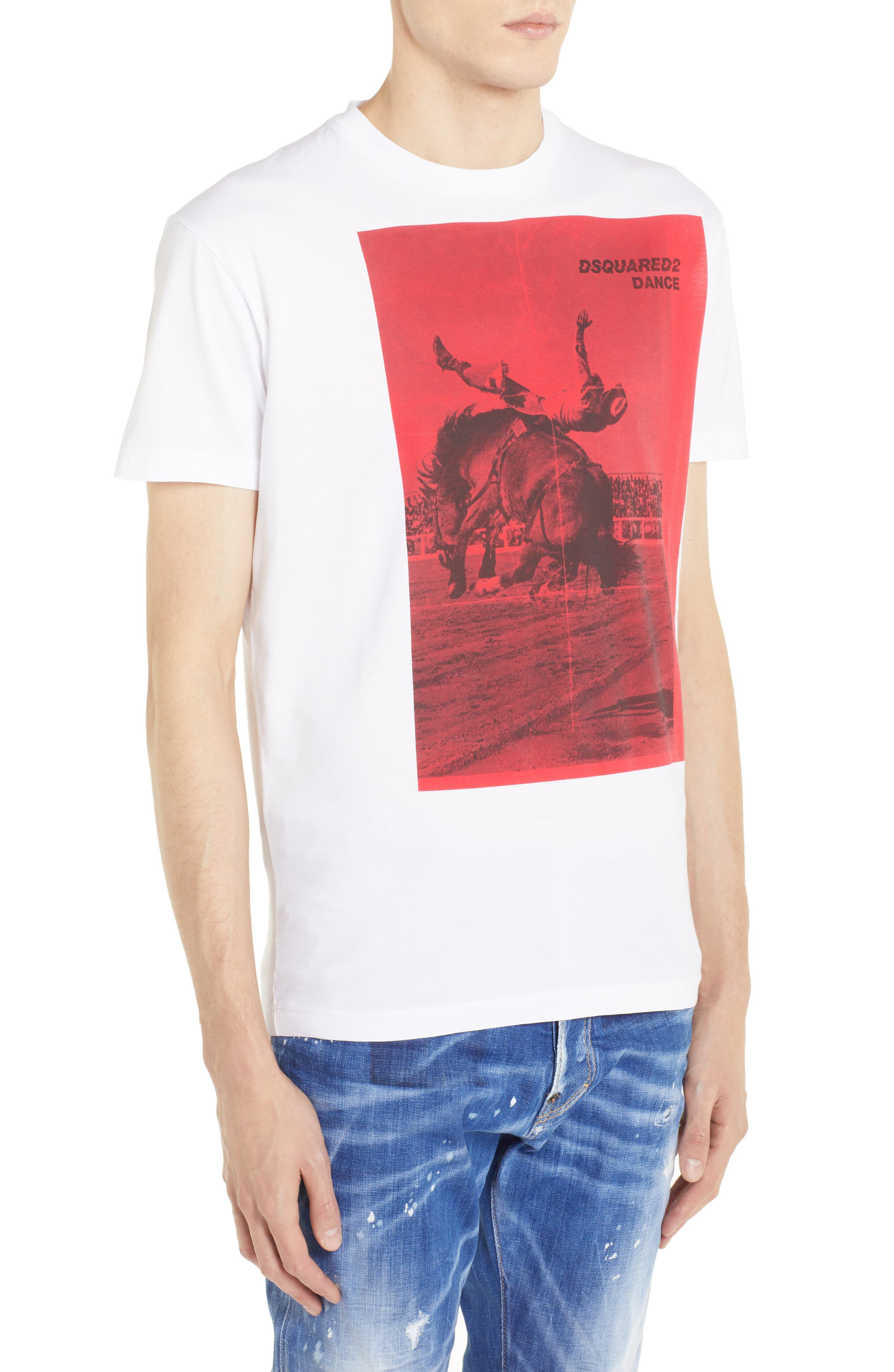Rodeo Graphic T-Shirt,                             Alternate thumbnail 3, color,                             WHITE