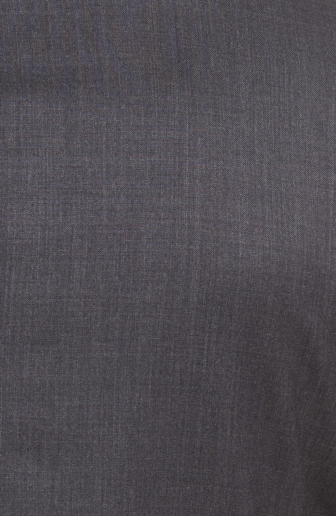 Rove Extra Slim Fit Solid Wool Suit,                             Alternate thumbnail 6, color,                             GREY