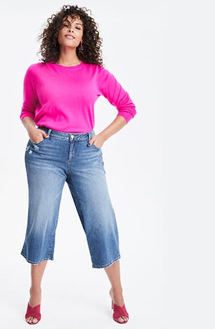 Bright this way: spring plus-size clothing.