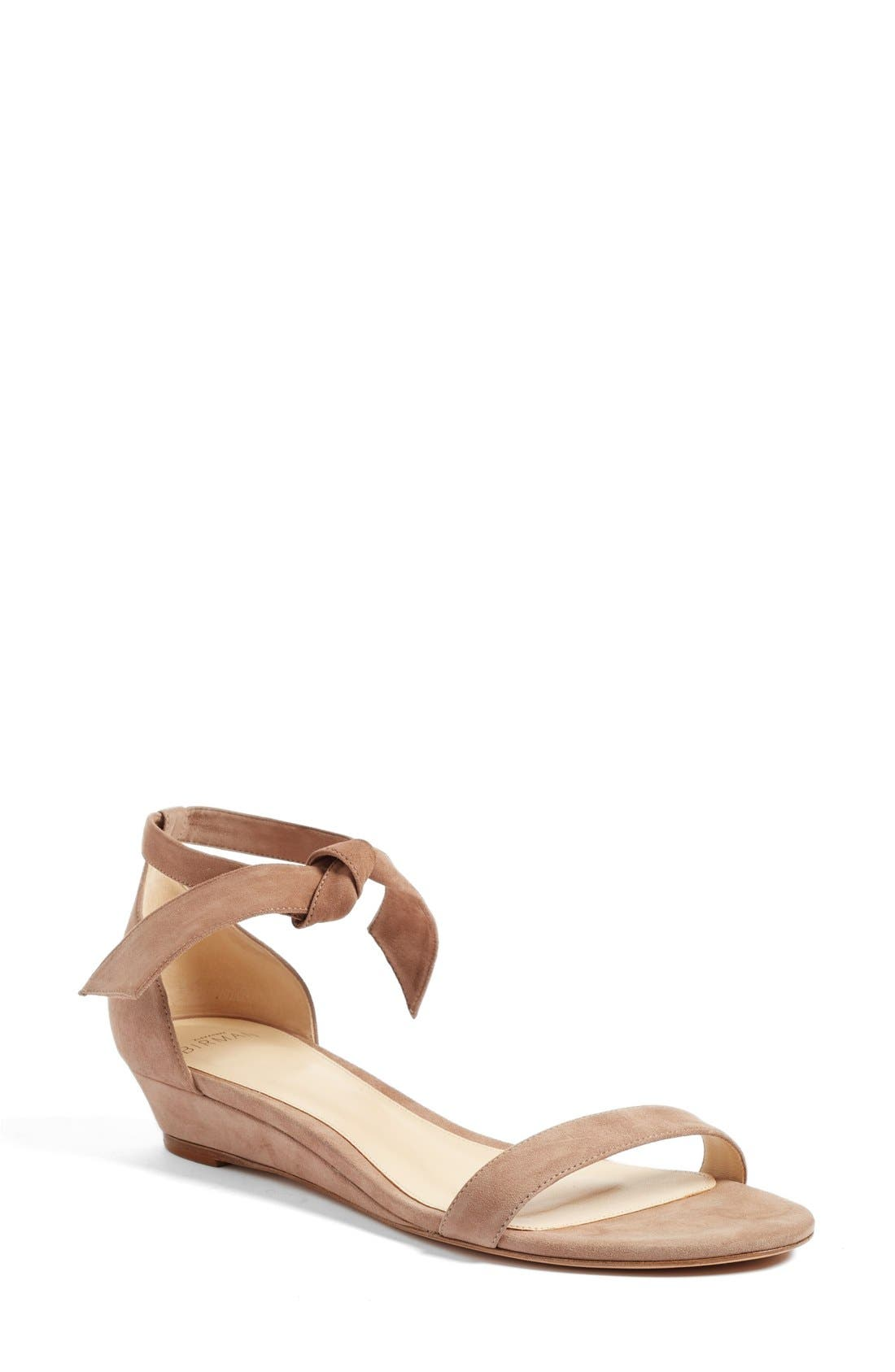 Atena Tie Strap Wedge Sandal,                             Main thumbnail 1, color,