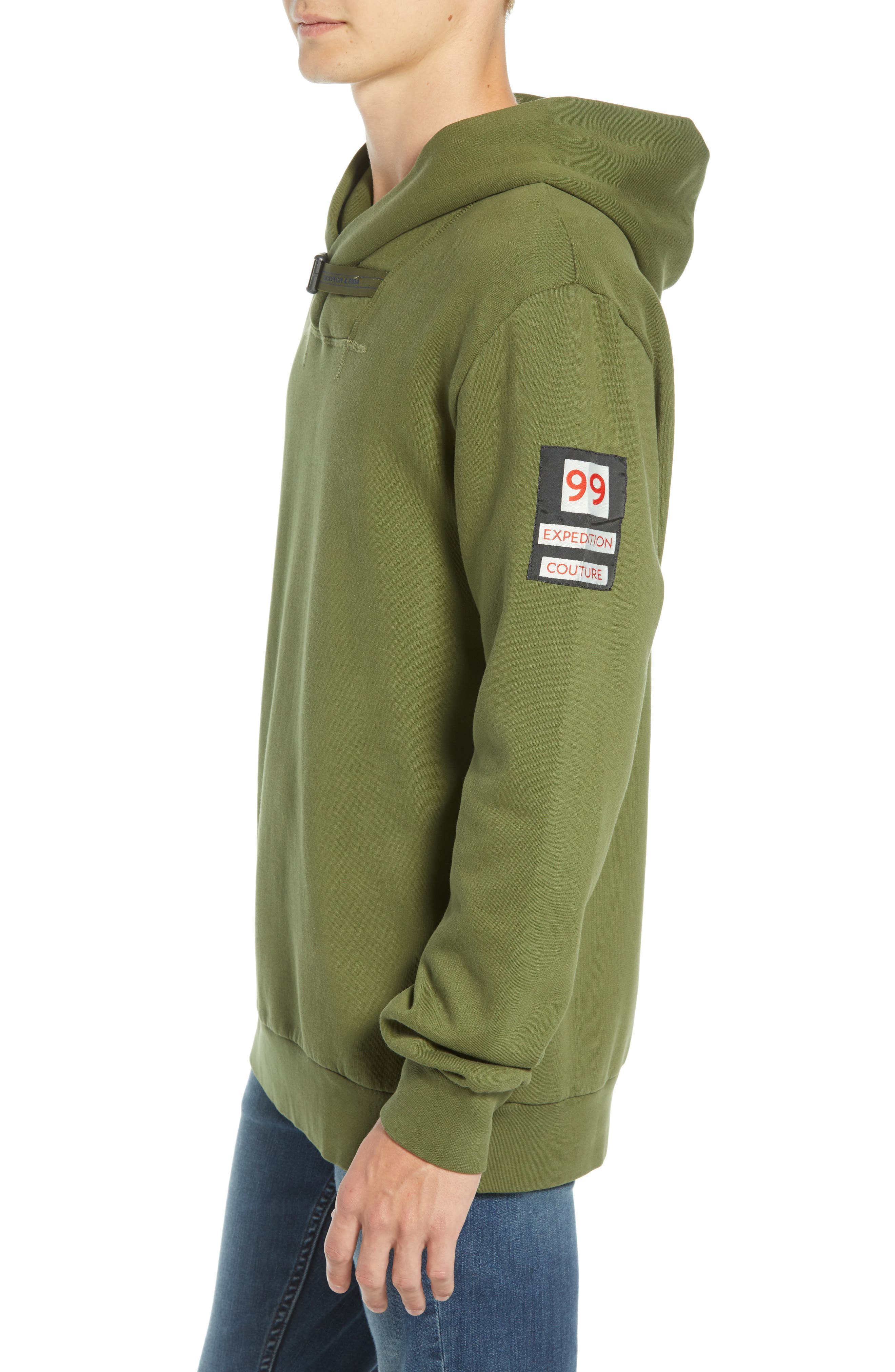 SCOTCH & SODA,                             Explorer Clip Buckle Hooded Pullover,                             Alternate thumbnail 3, color,                             COMBO C