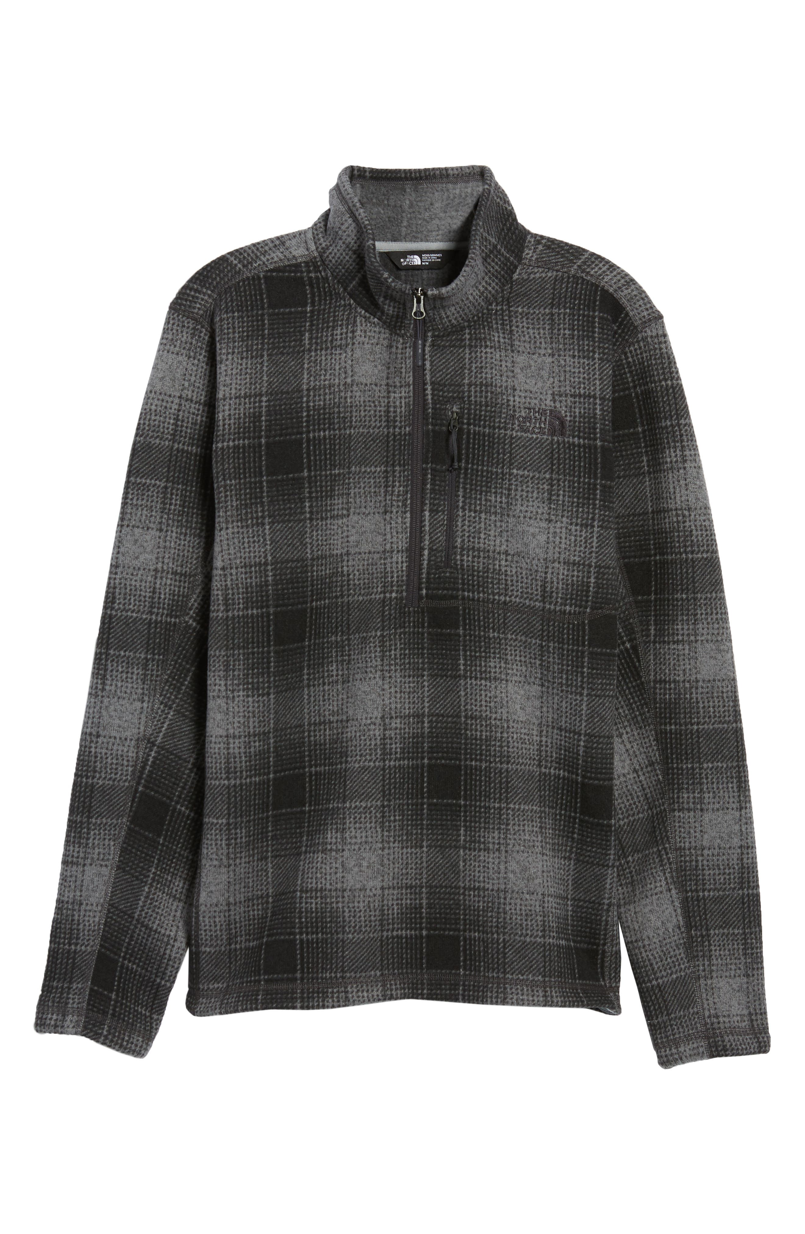Novelty Gordon Lyons Plaid Pullover,                             Alternate thumbnail 6, color,                             MONUMENT GREY OMBRE PLAID