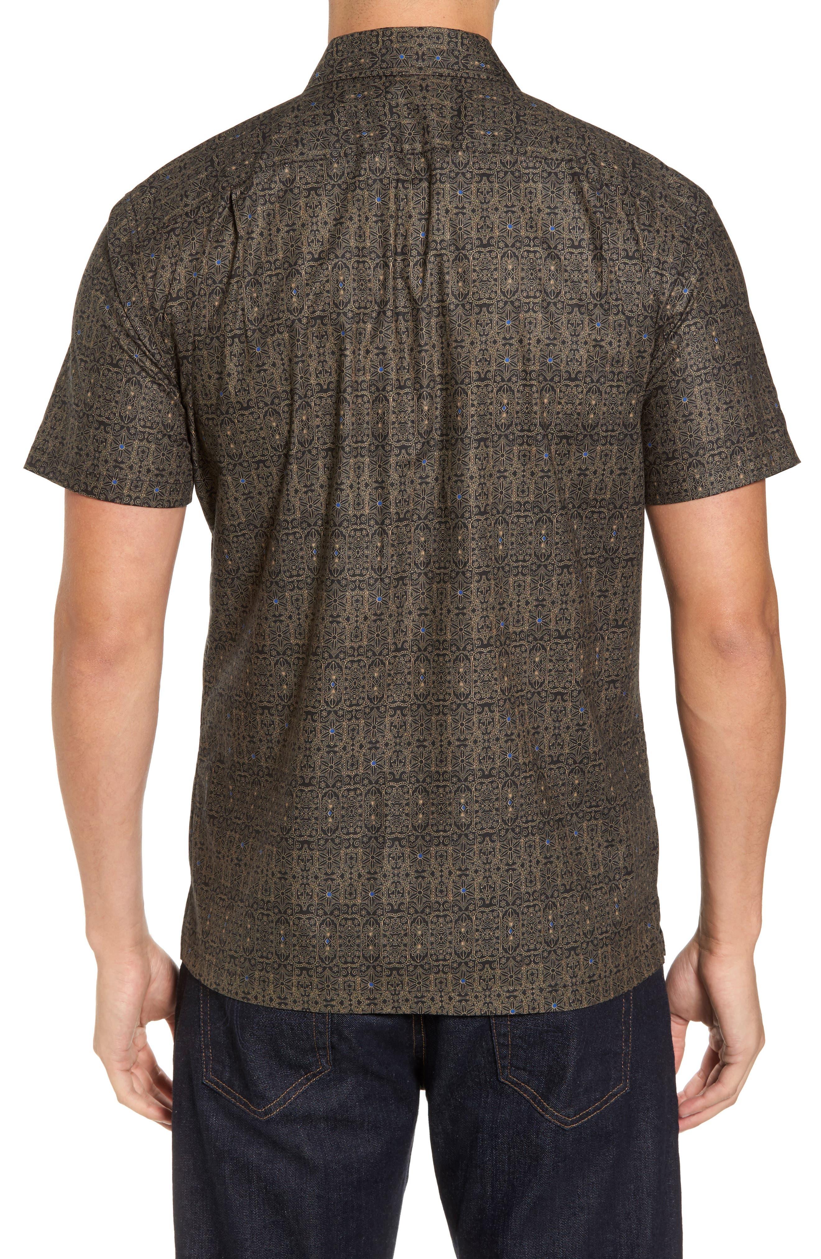 Filigree Slim Fit Camp Shirt,                             Alternate thumbnail 2, color,                             001