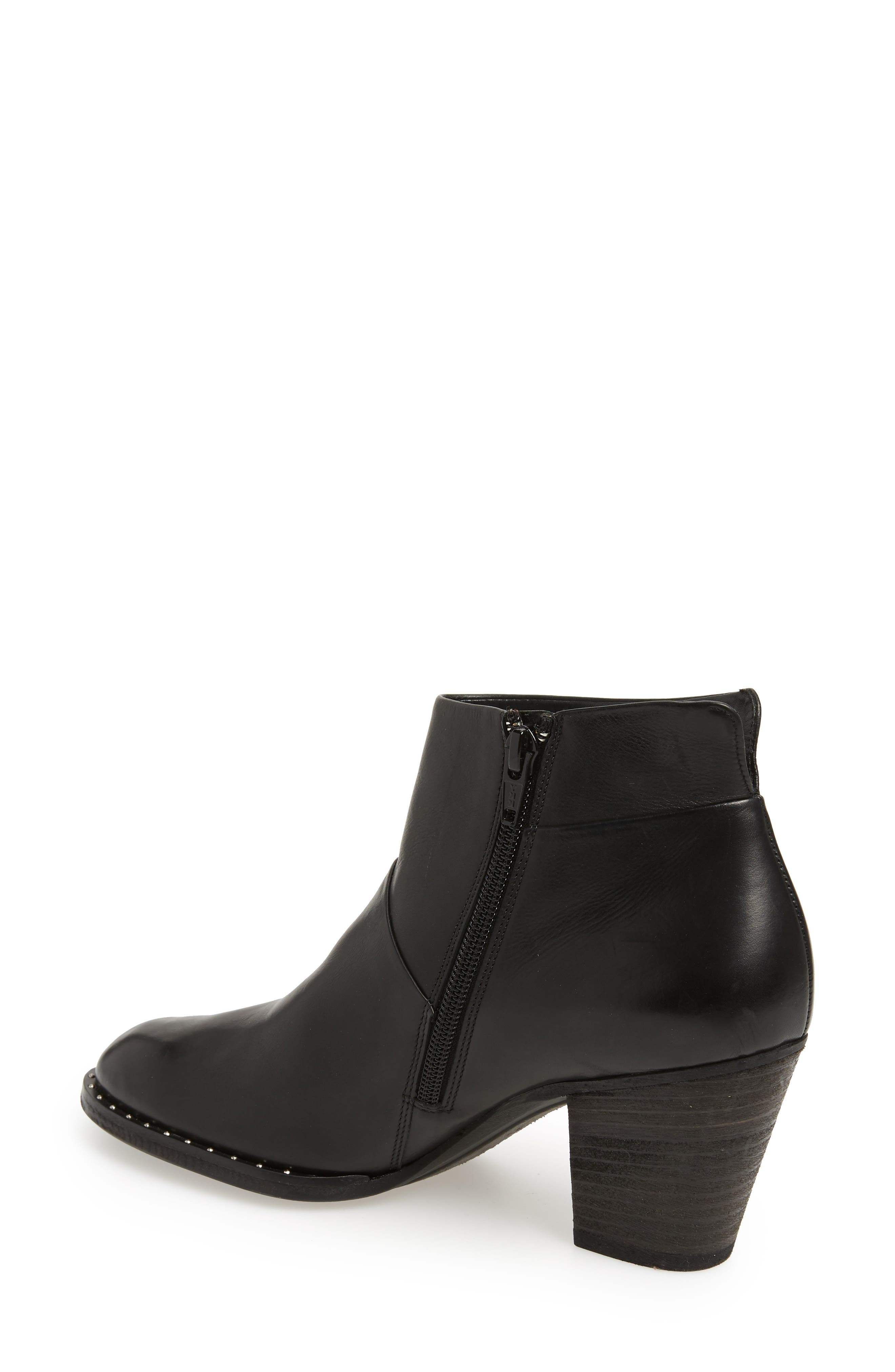 Stella Bootie,                             Alternate thumbnail 2, color,                             BLACK LEATHER