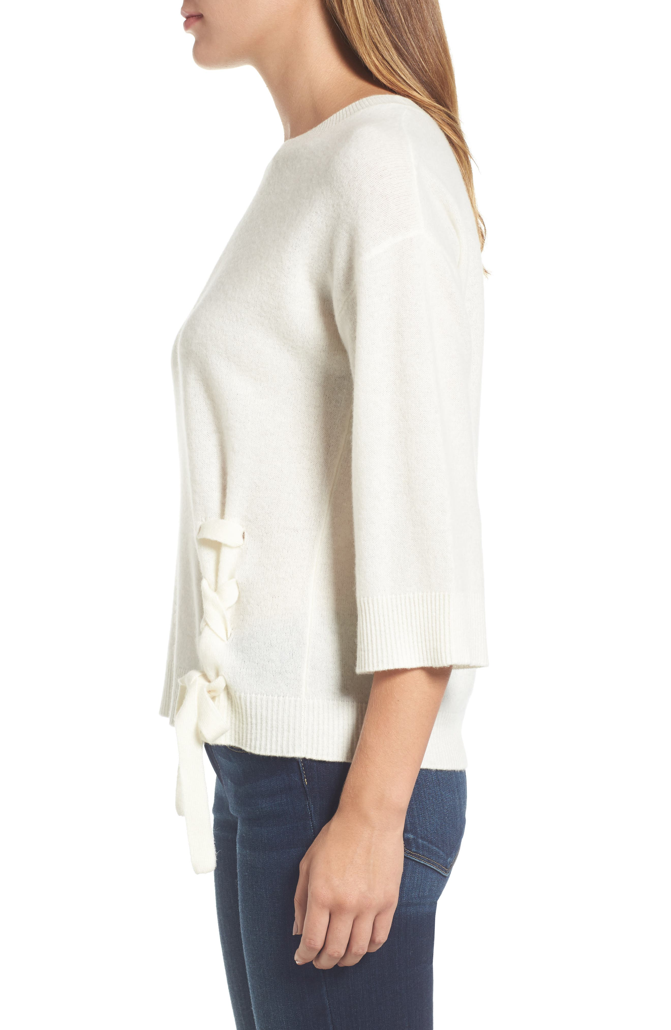 Side Tie Wool and Cashmere Sweater,                             Alternate thumbnail 17, color,