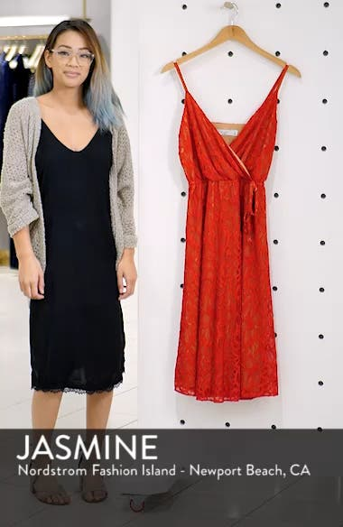 Cheek to Cheek Lace Midi Dress, sales video thumbnail