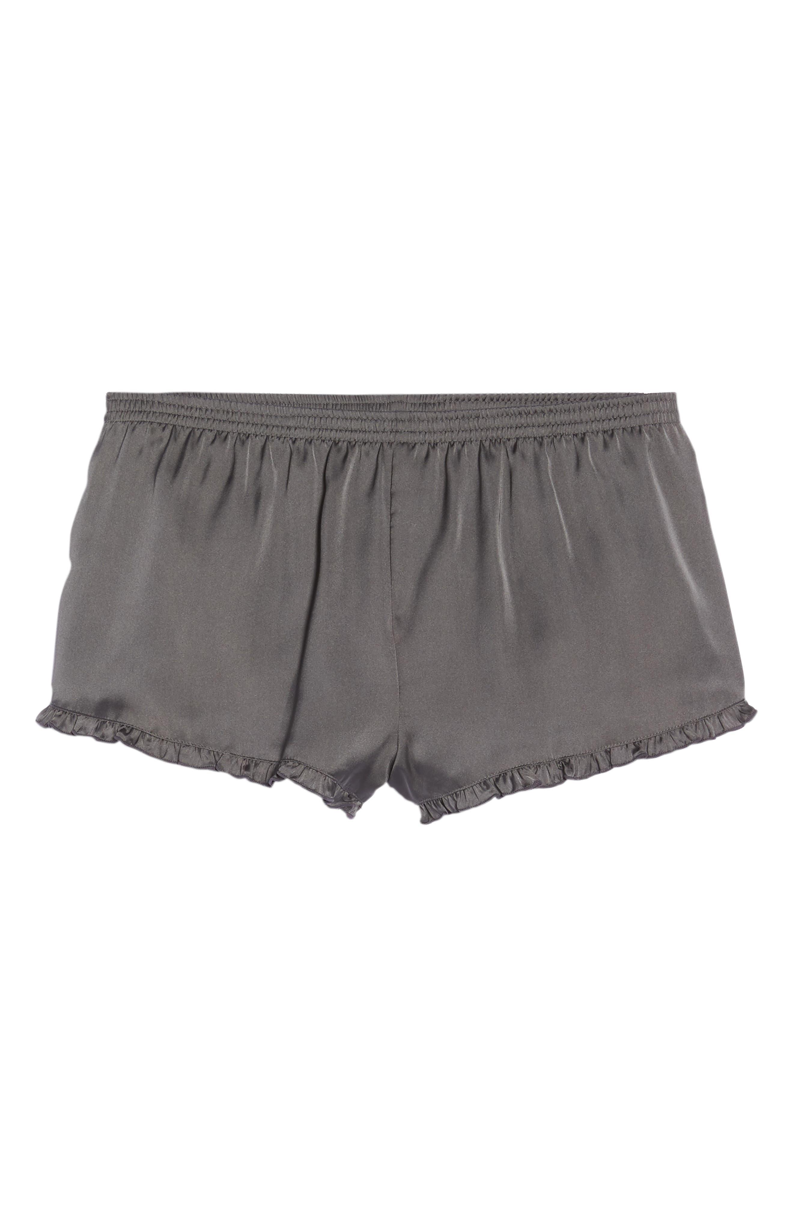 Satin Lounge Shorts,                             Alternate thumbnail 6, color,                             022