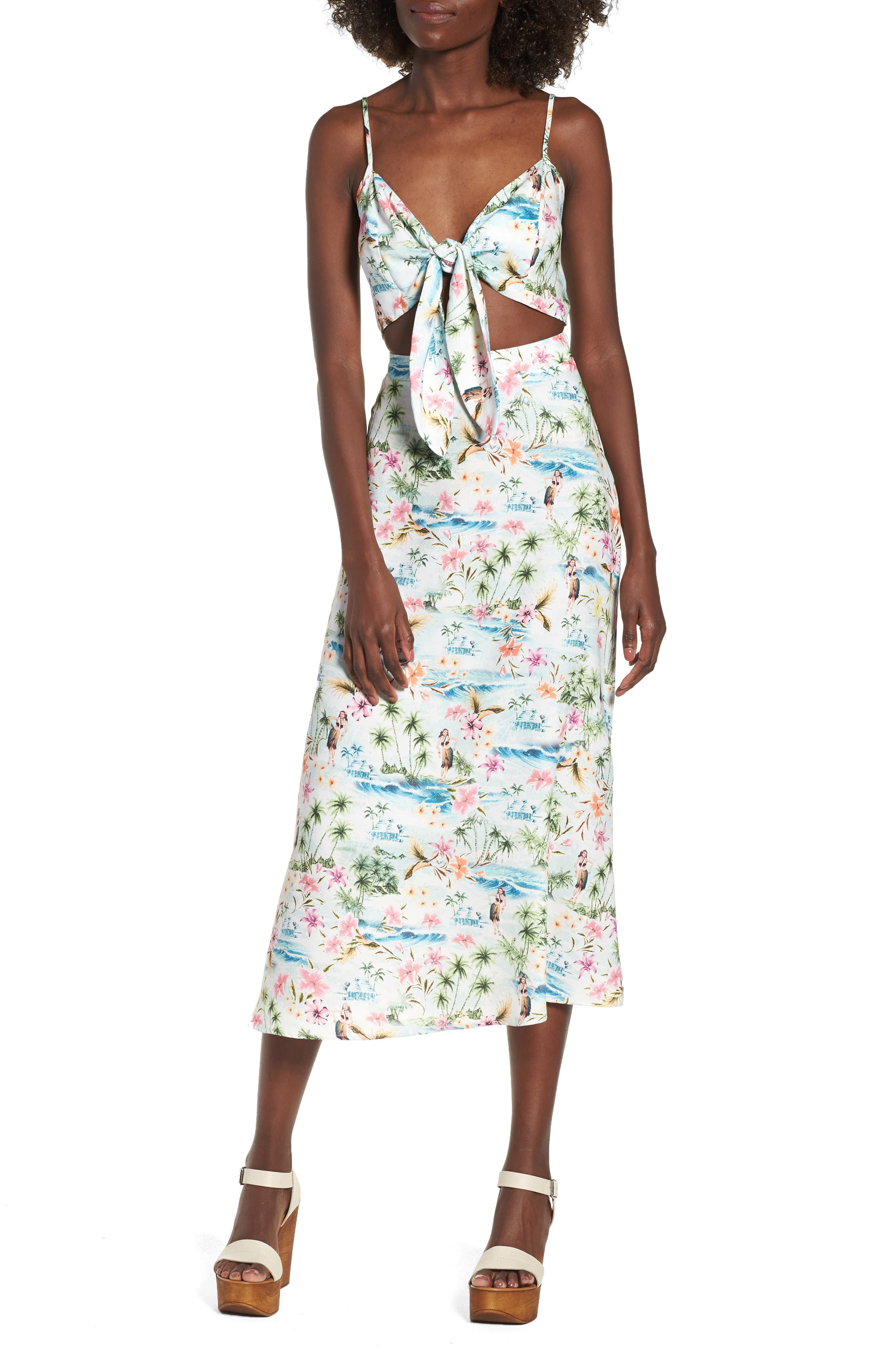 Moby Tie Maxi Dress,                             Main thumbnail 1, color,                             100